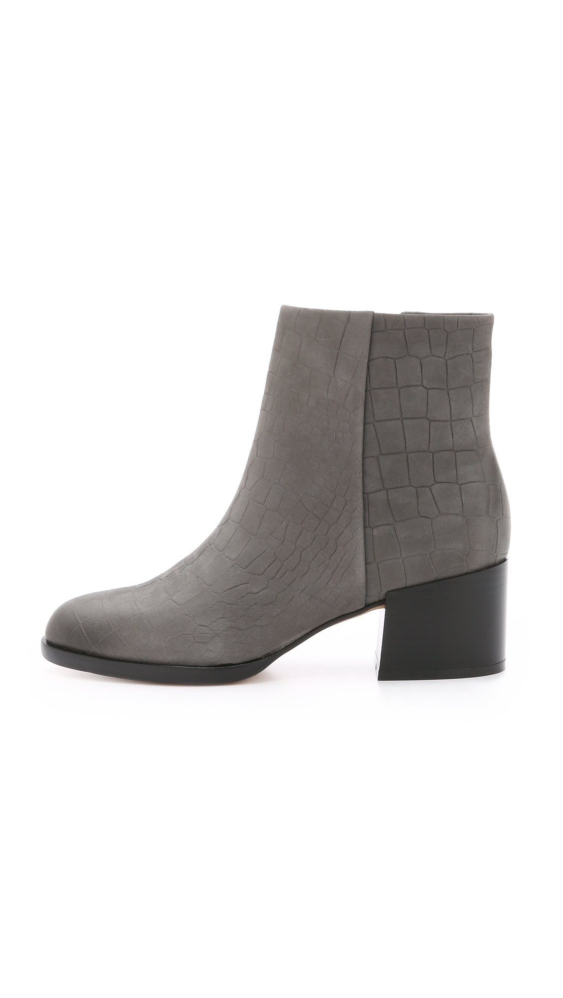 ef3a5c39c Sam Edelman Joey Booties in Gray - Lyst