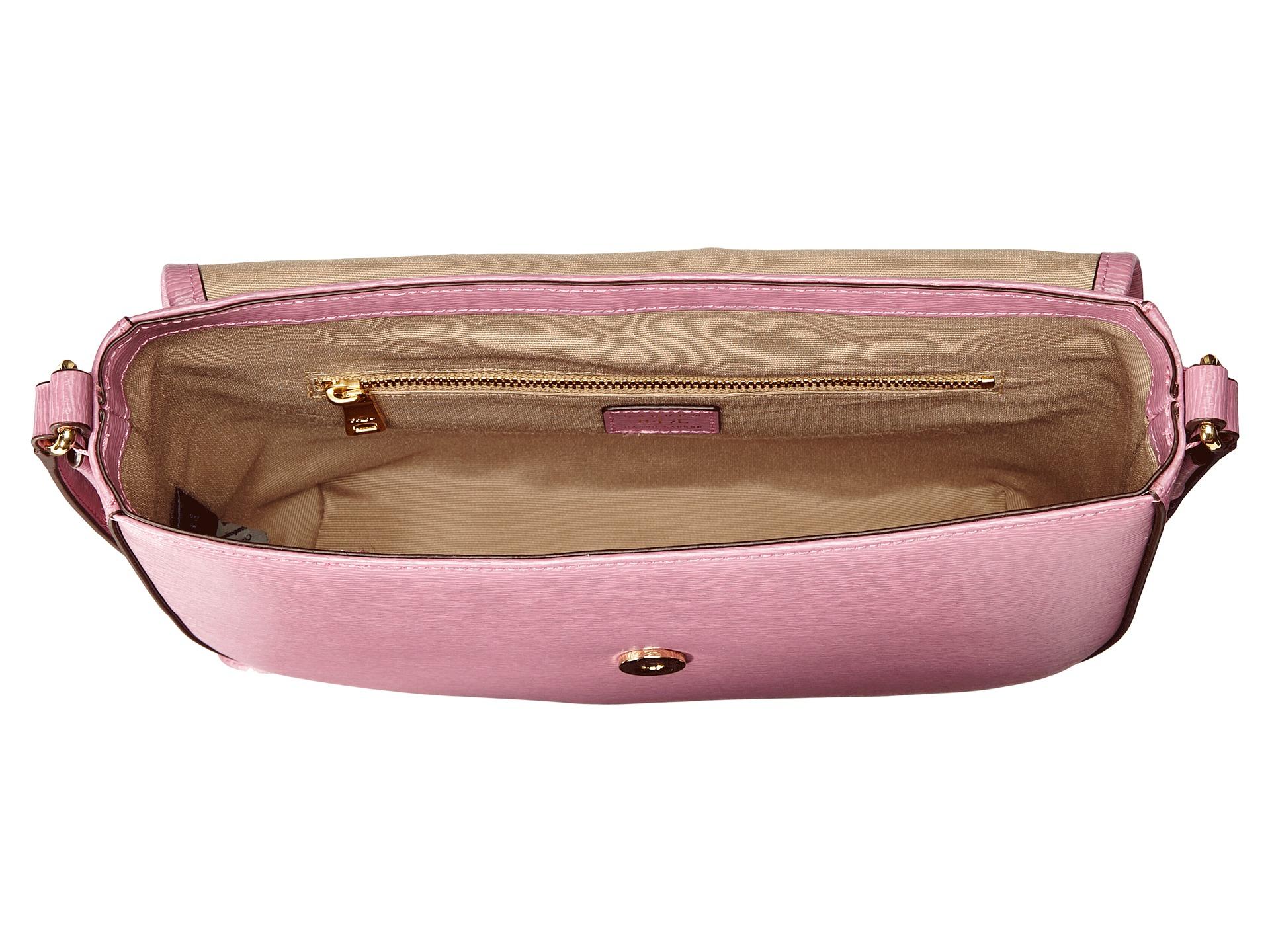 99ea6628fb6a Lyst - Lauren by Ralph Lauren Tate Messenger in Pink