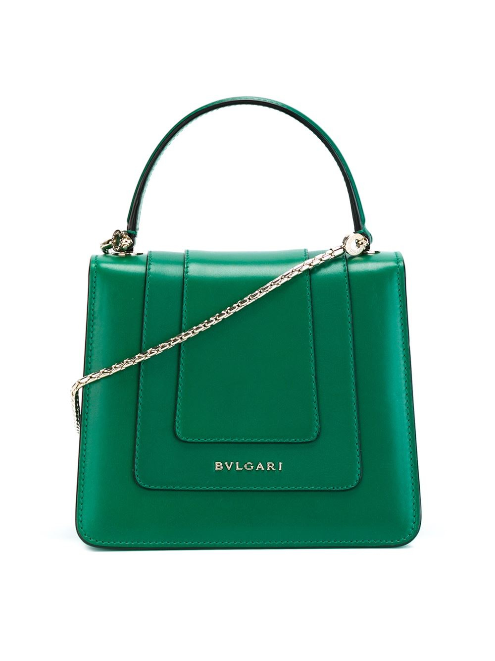Lyst Bvlgari Serpenti Forever Leather Shoulder Bag In Green