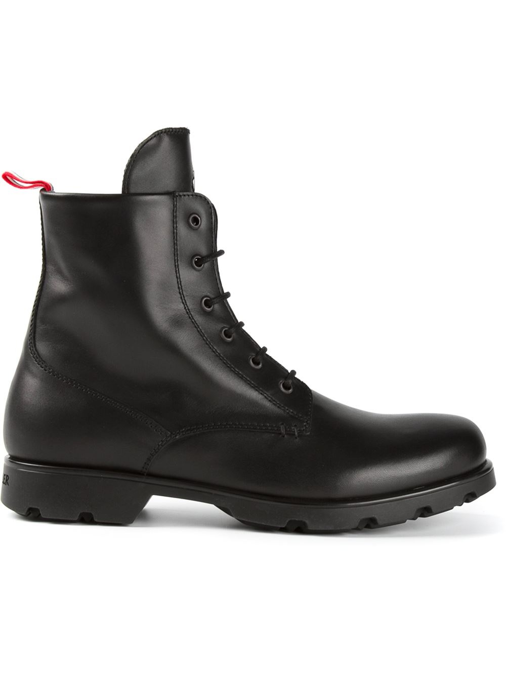 moncler laceup boots in black for lyst