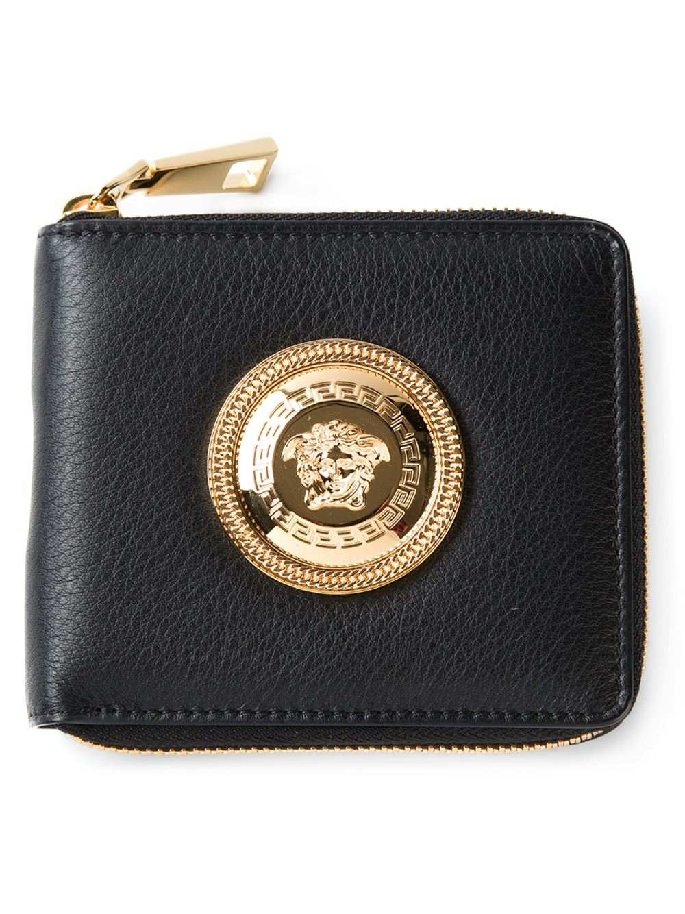 Offers Gianni Versace Men's Wallets and Leather Accessories from the Current Collection.