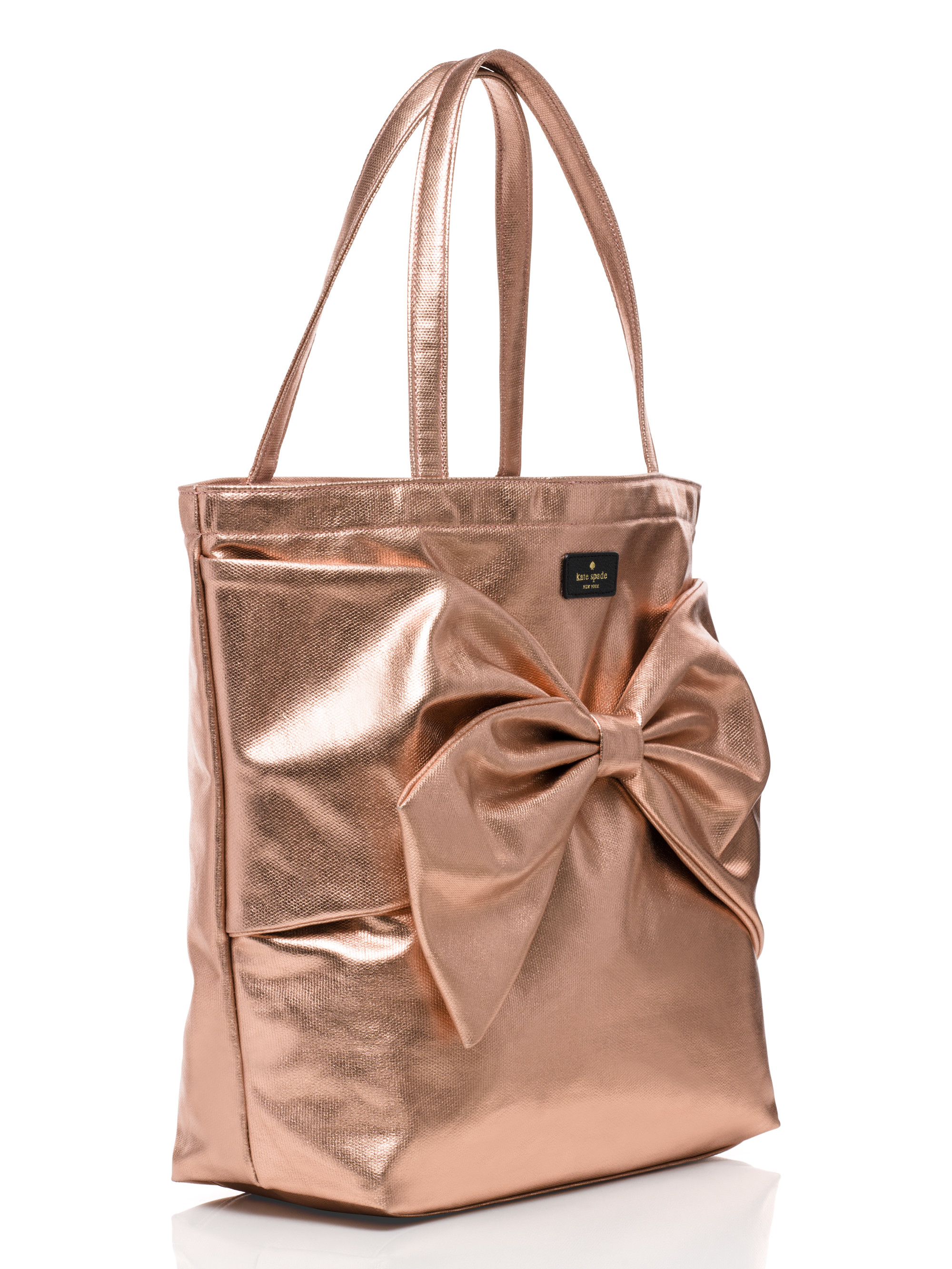 9604dc136d0 Lyst - Kate Spade On Purpose Rose Gold Metallic Tote in Pink