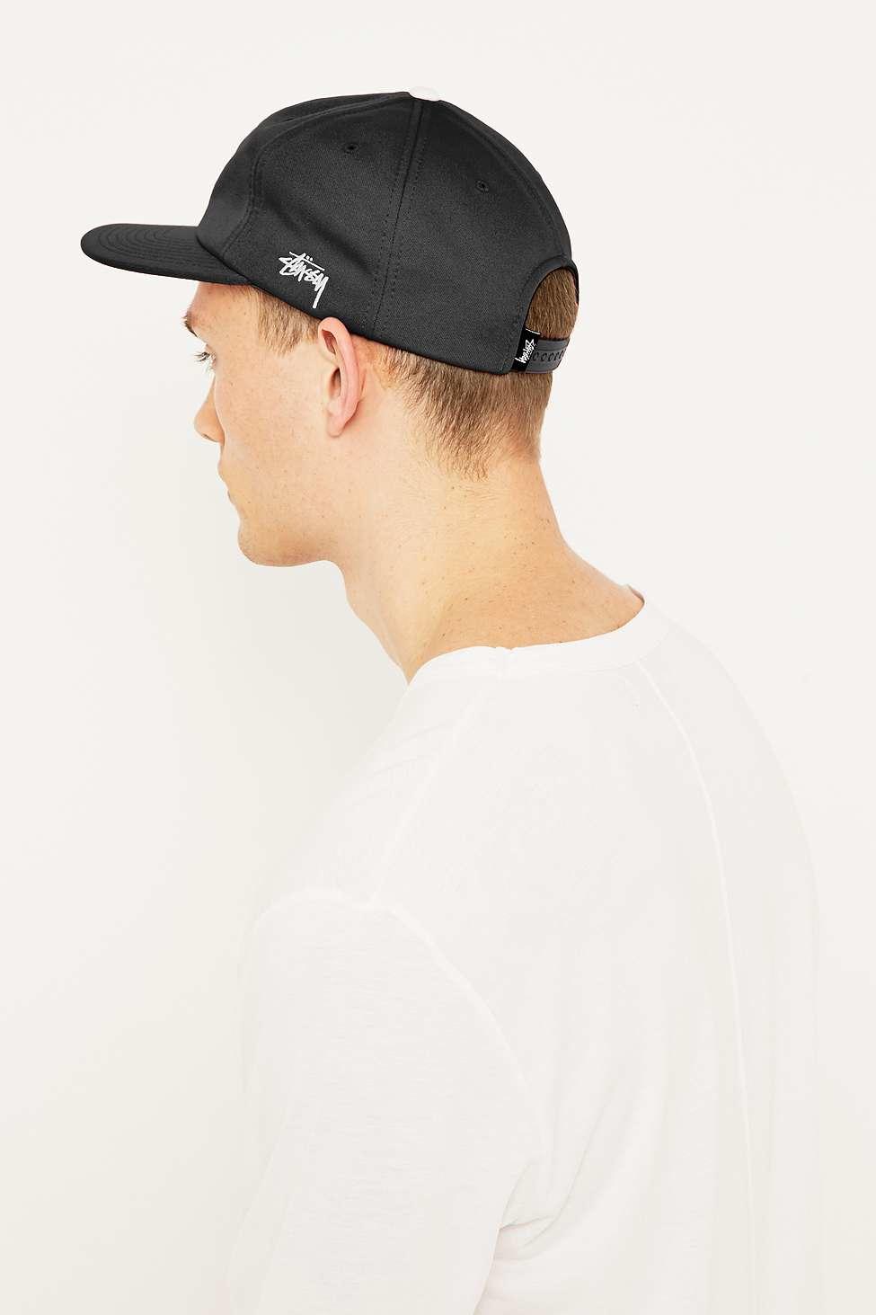 Stussy Short Brim Old S Black Snapback Cap in Black for Men - Lyst 4d6596d518d