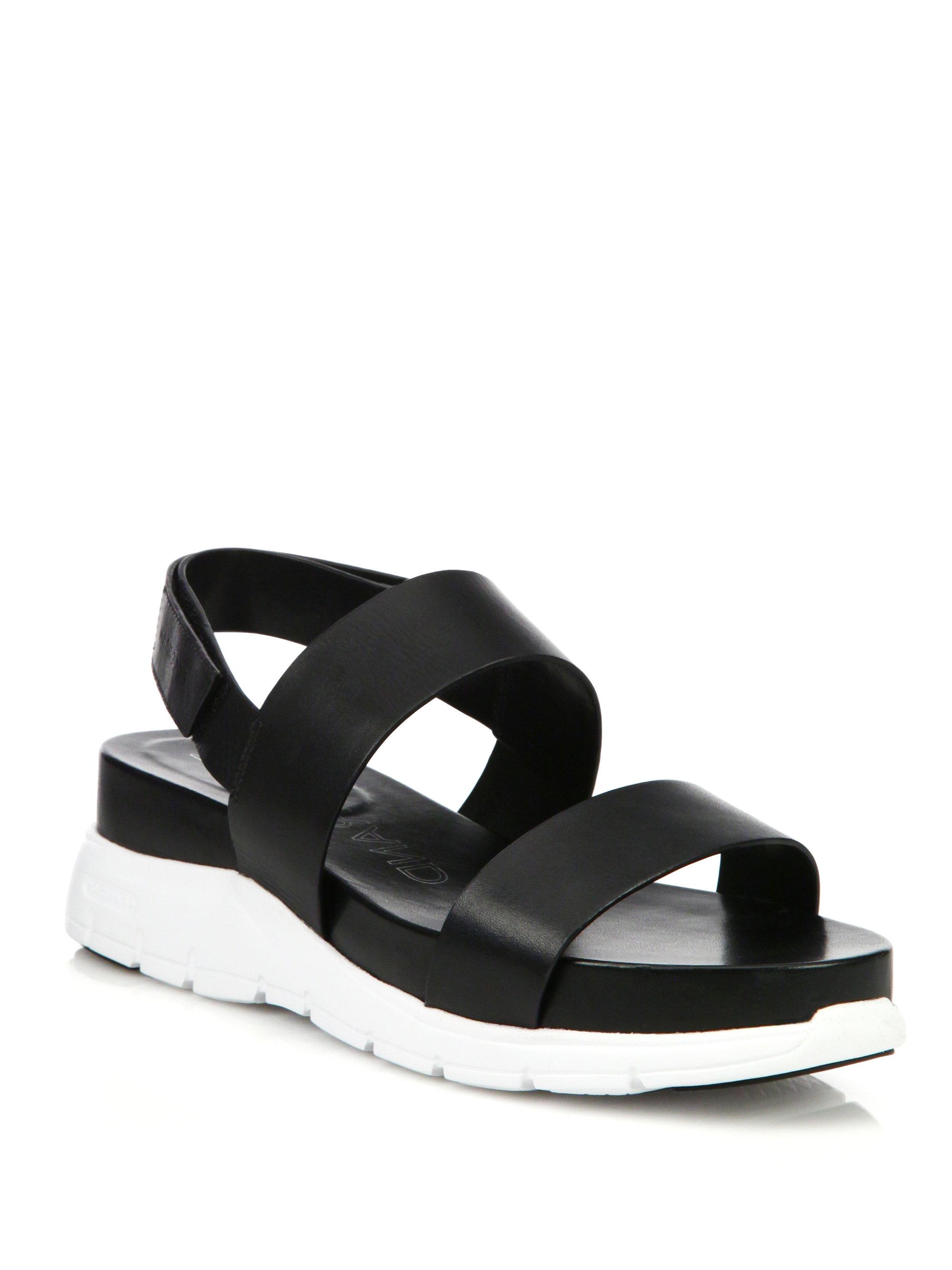 3614f44c619c Lyst - Cole Haan Zerogrand Leather Platform Slingback Sandals in Black