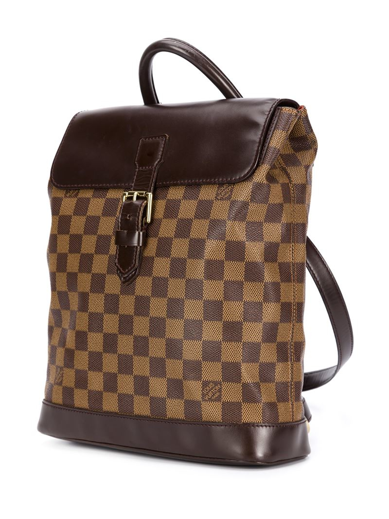louis vuitton soho backpack in brown lyst. Black Bedroom Furniture Sets. Home Design Ideas