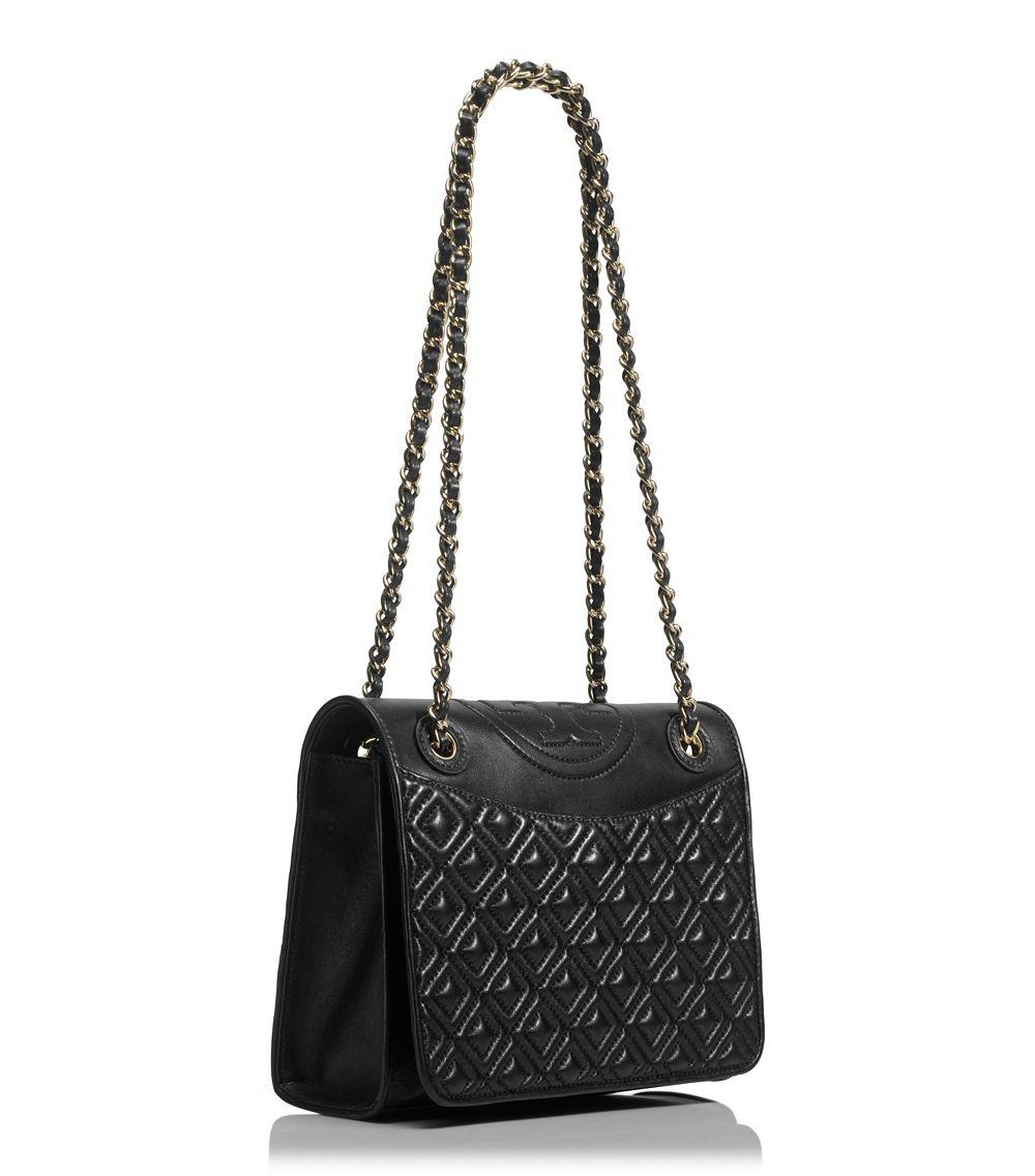 Lyst Tory Burch Fleming Medium Shoulder Bag In Black