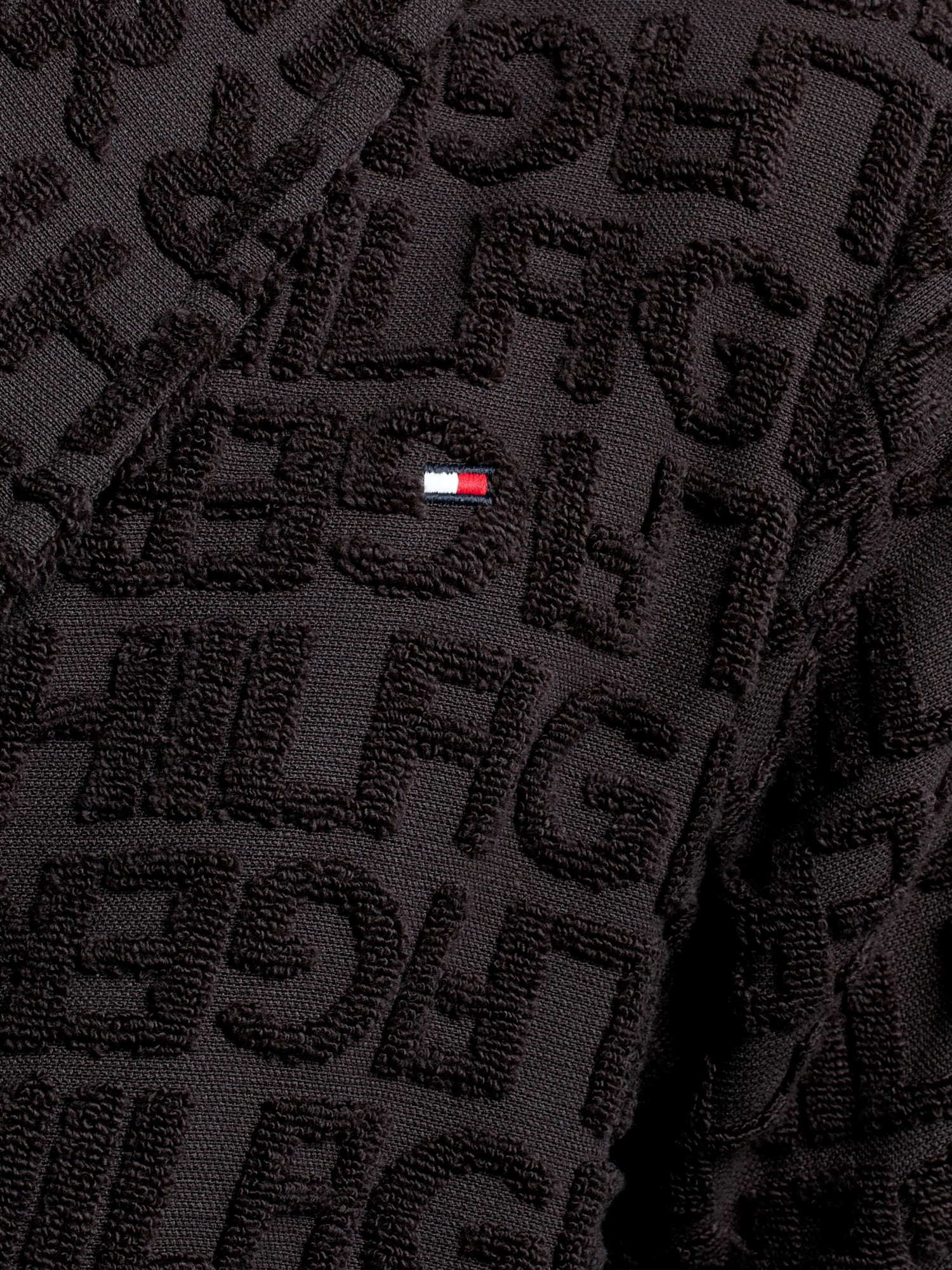 casual shoes promo code outlet Tommy Hilfiger Logo Pattern Terry Cotton Robe in Black for ...