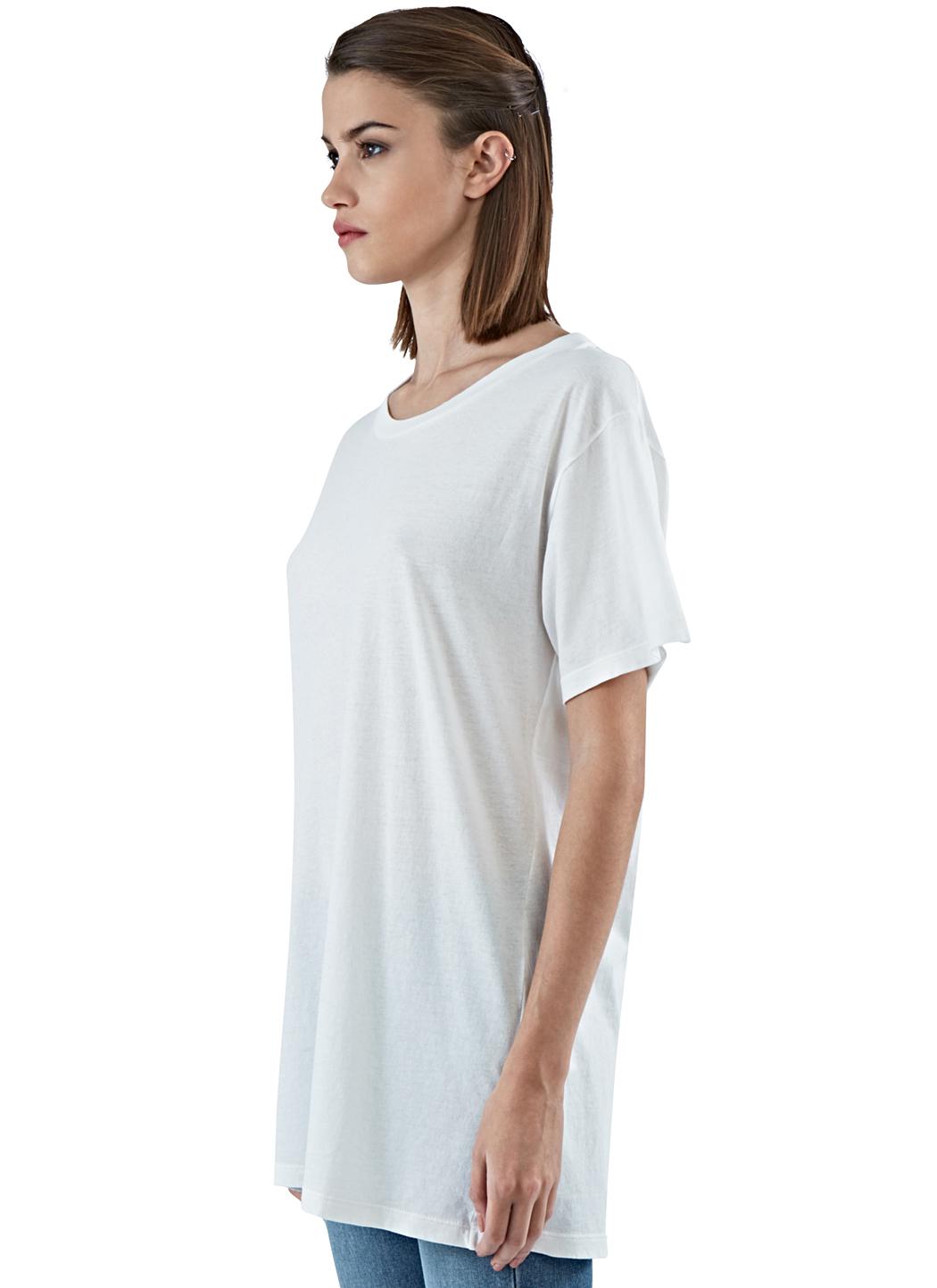 Saint laurent women 39 s oversized short sleeved t shirt in for Saint laurent shirt womens