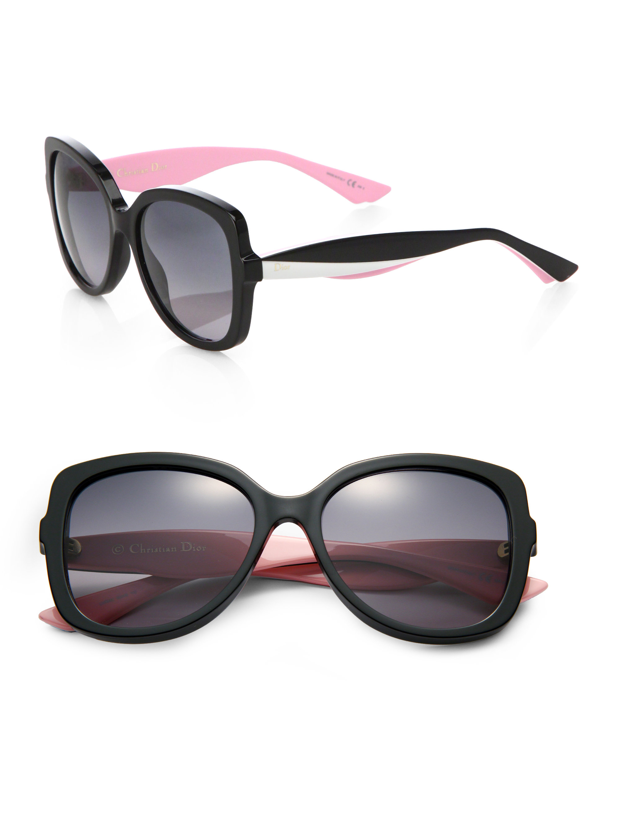 Dior Black Frame Glasses : Dior Envol Round-frame Sunglasses in Black Lyst