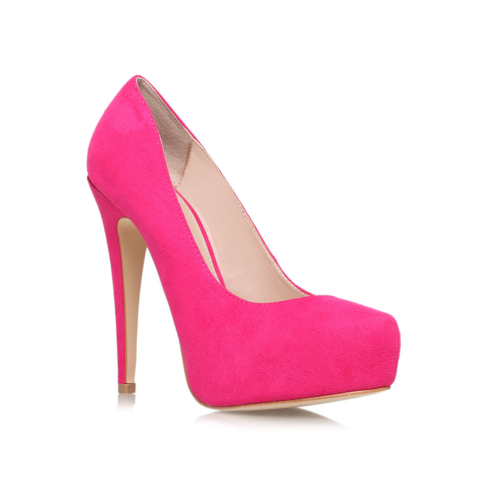 carvela kurt geiger kaci high heel court shoes in pink lyst