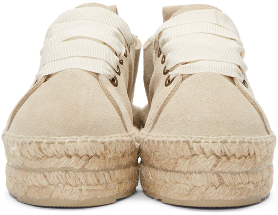 Lyst Maneb 237 Beige Suede Lace Up Hamptons Espadrilles In