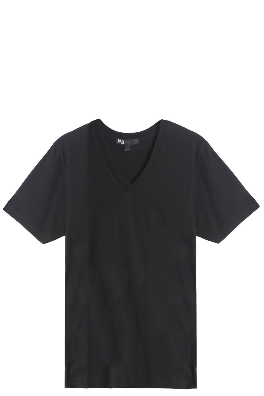 Lyst y 3 v neck t shirt in black V neck black t shirt