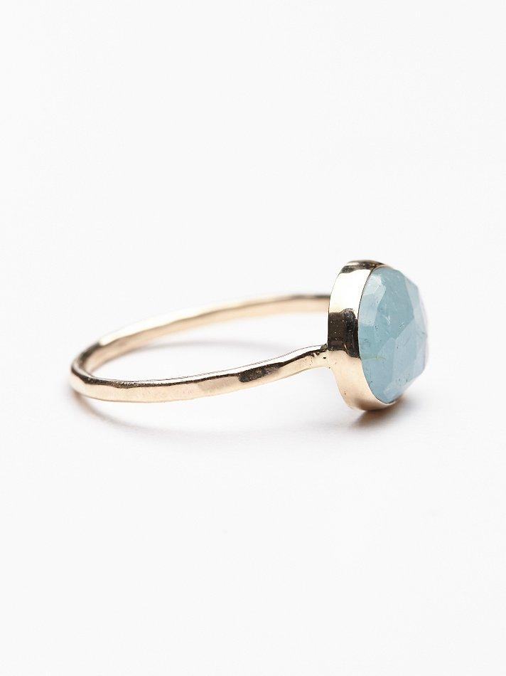 Lyst Free People Aquamarine Slice Ring In Metallic