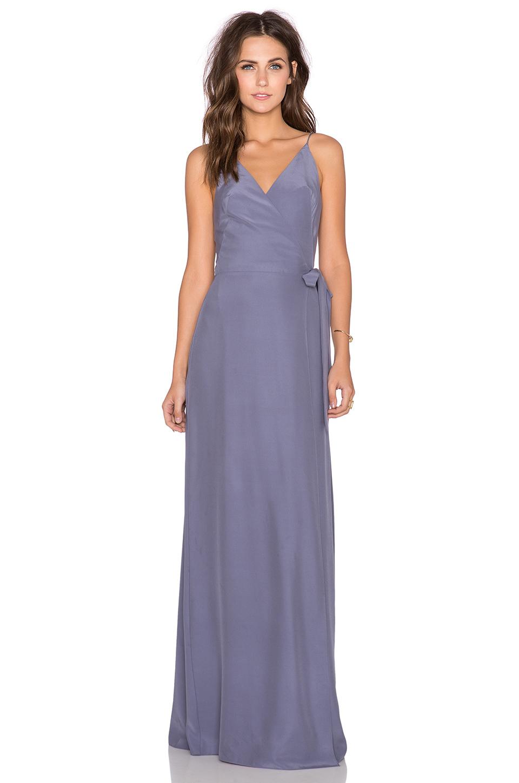 Lyst Amanda Uprichard Alexandria Maxi Dress In Purple
