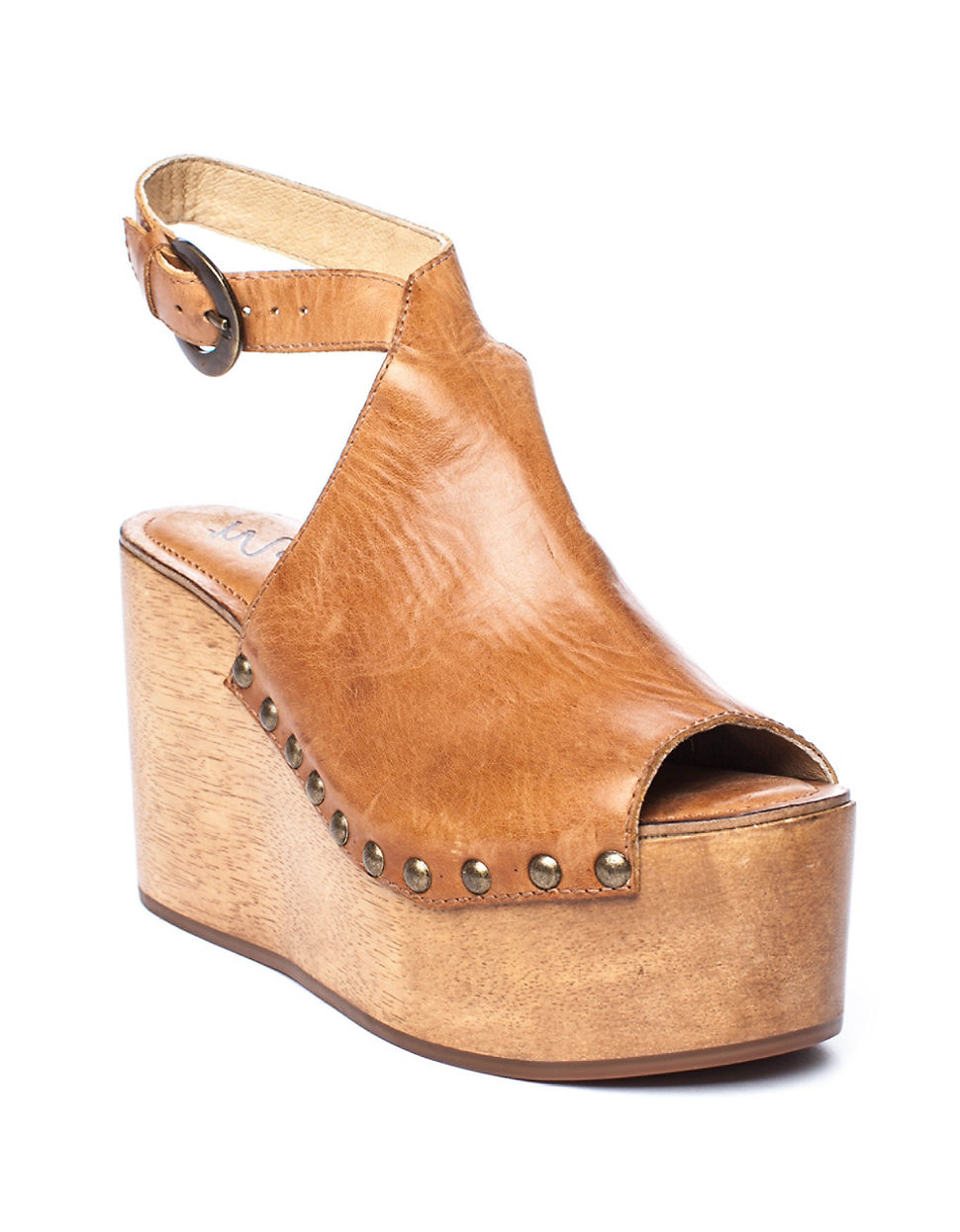 e8dd0d38b60 Matisse Tiegs Leather Platform Sandals in Natural - Lyst