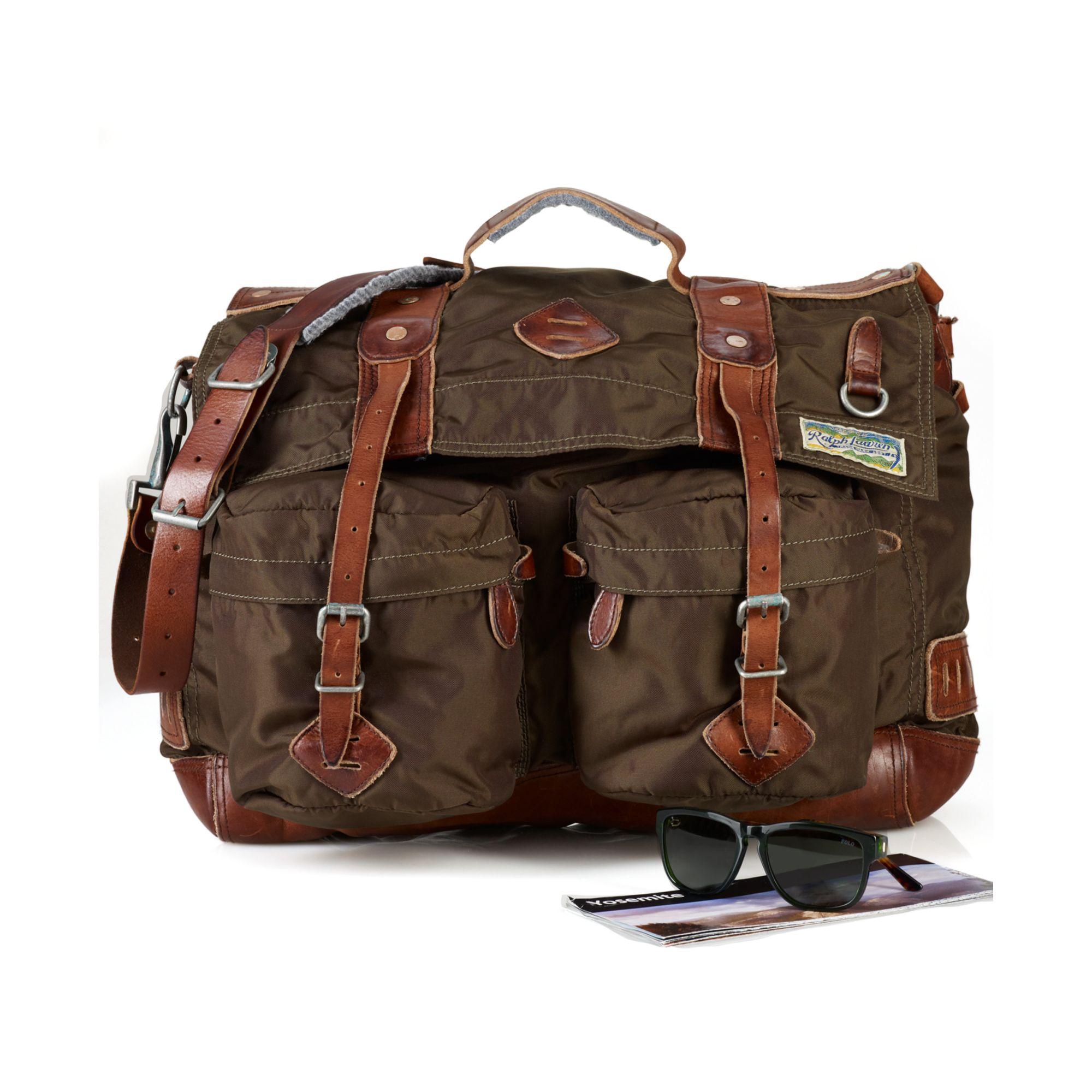 ... reduced lyst ralph lauren nylon yosemite messenger bag in green for men  71947 02c16 ca80ffe74f063