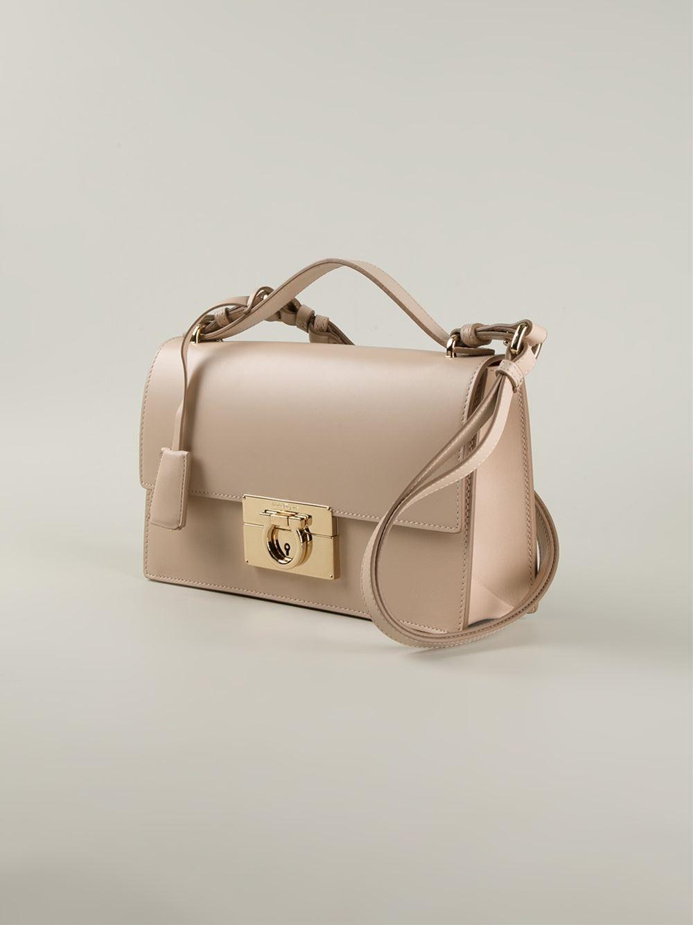 aadbf35c43e9 Lyst - Ferragamo Aileen Shoulder Bag in Pink