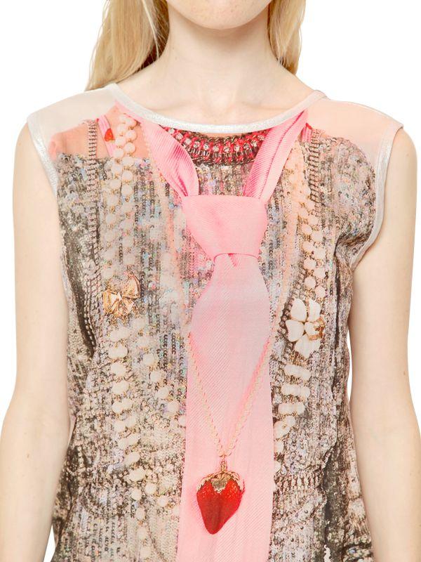 Venera Arapu Silk Satin Amp Waxed Jersey Dress In Pink