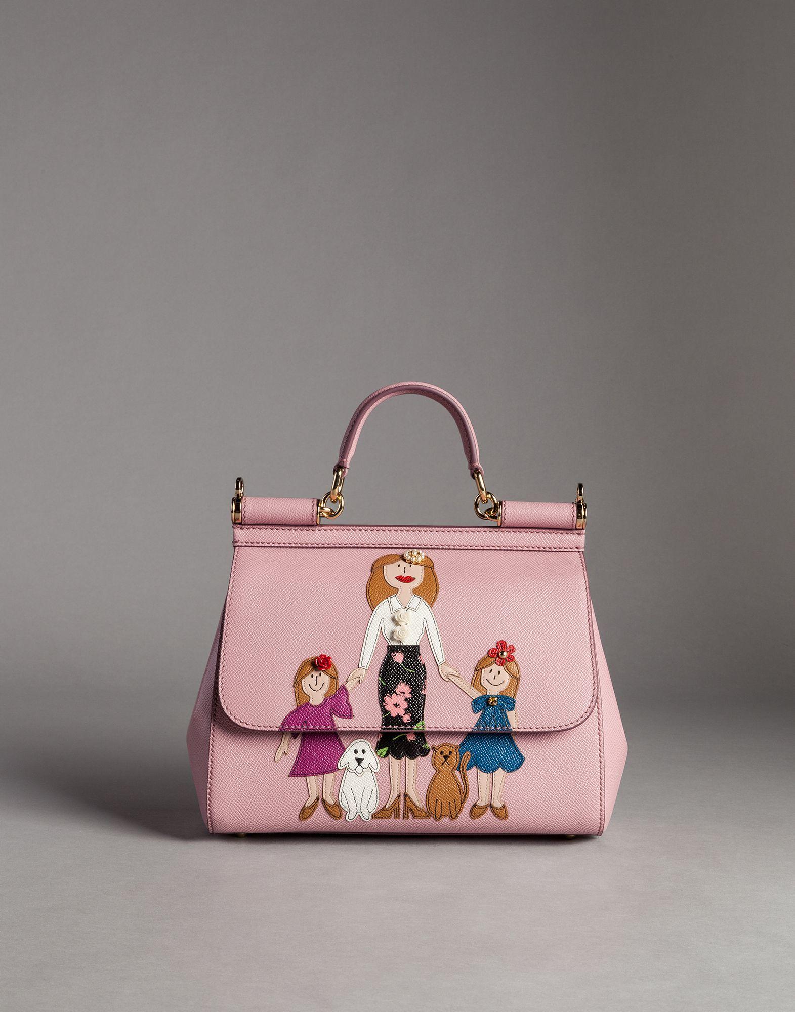 Lyst - Dolce   Gabbana Medium Dauphine Calfskin Sicily Bag With ... 296fa58defbe2