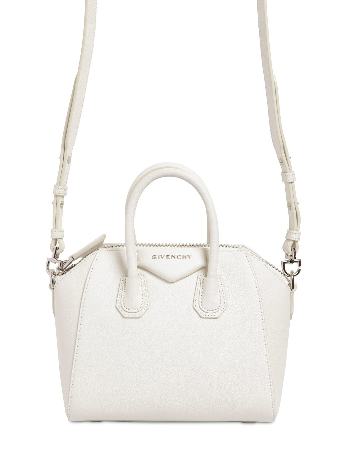 d9d1c000a8 Givenchy Mini Antigona Grained Leather Top Handle in White - Lyst