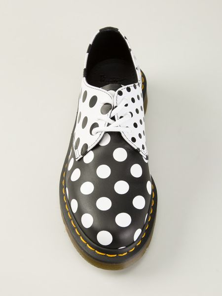 black and white polka dot shoes