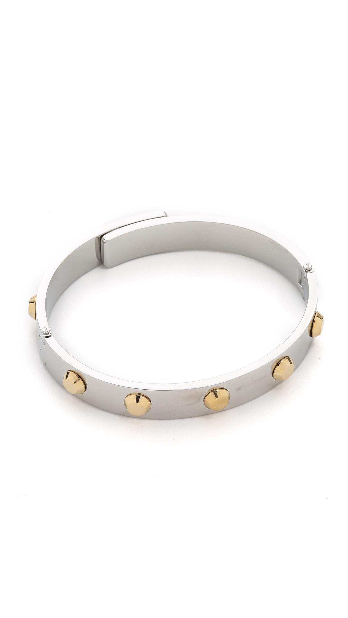 michael kors astor hinge bangle bracelet in metallic lyst. Black Bedroom Furniture Sets. Home Design Ideas