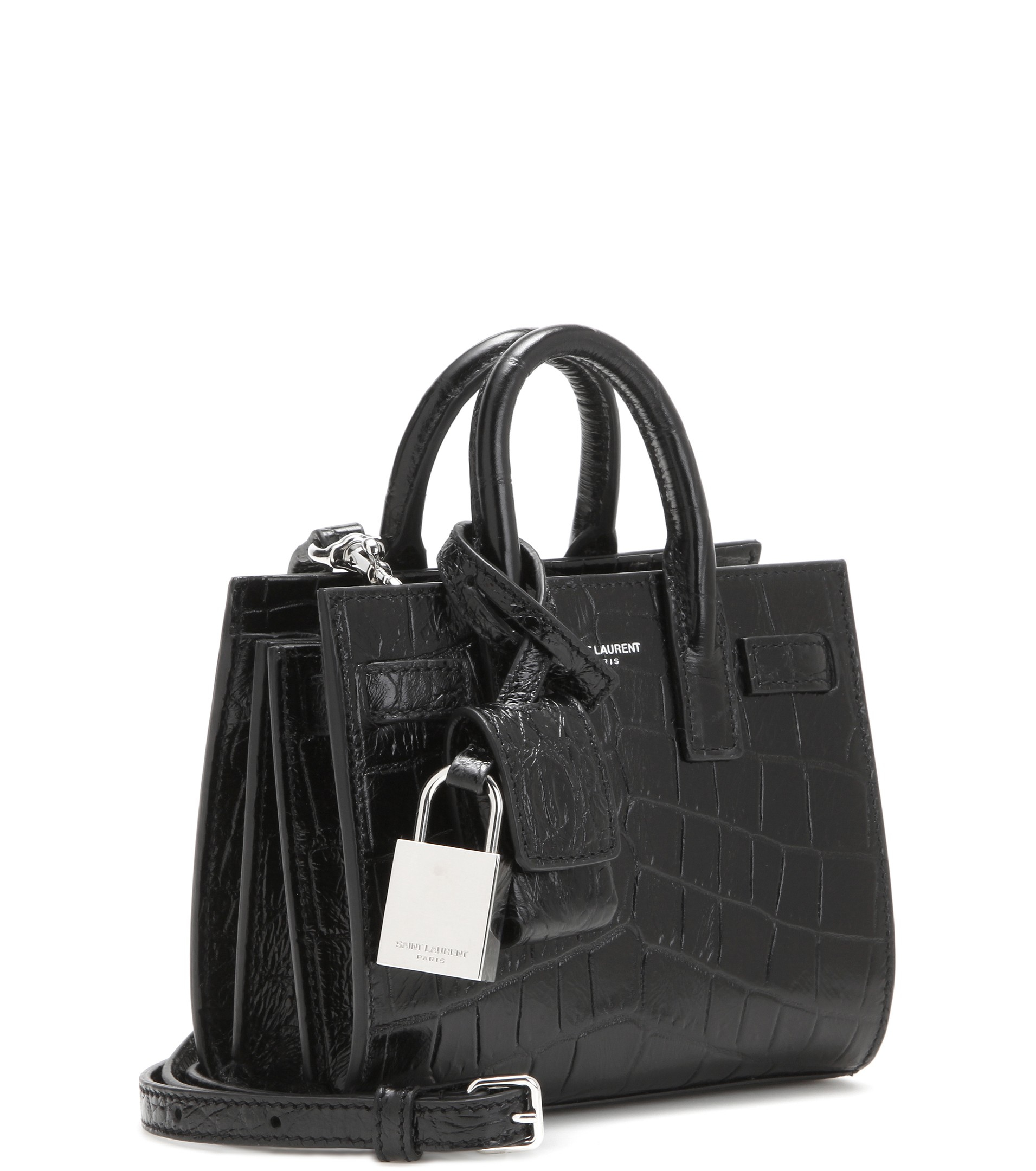 lyst saint laurent classic toy sac de jour shoulder bag in black. Black Bedroom Furniture Sets. Home Design Ideas