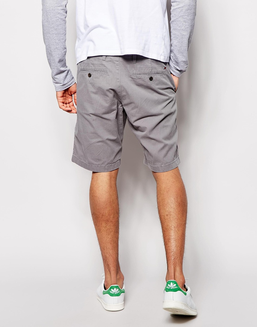 Tommy hilfiger Chino Shorts in Gray for Men | Lyst