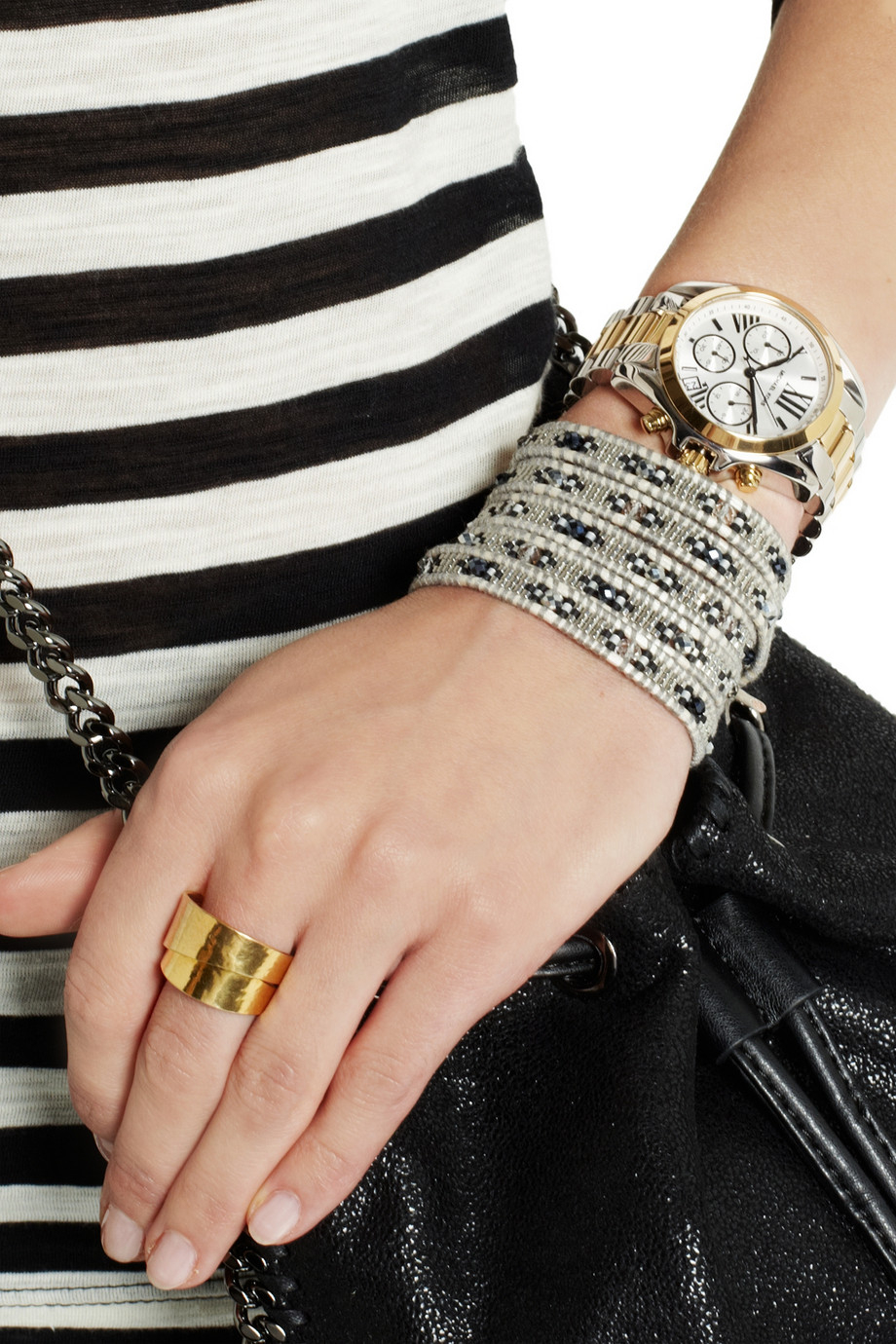 Lyst Michael Kors Bradshaw Gold And SilverTone Chronograph Watch