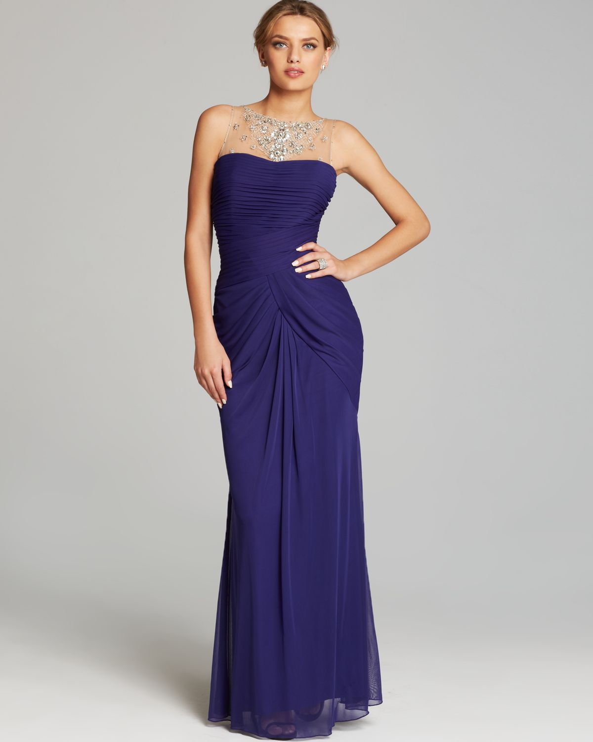 Adrianna Papell Lace Yoke Drape Gown_Other dresses_dressesss