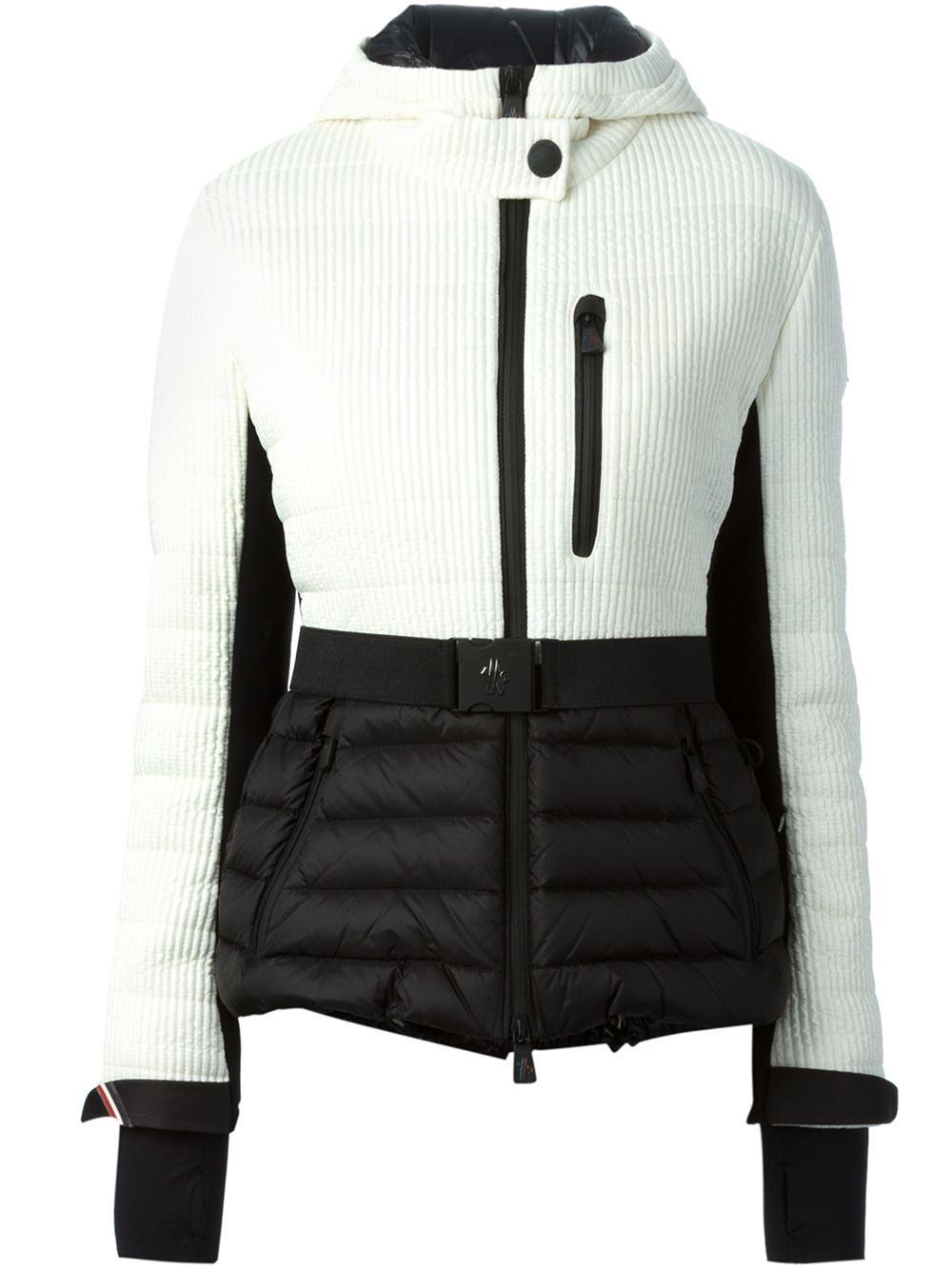 1662f395ee real lyst moncler grenoble bruche ski jacket in white 22468 9170a   clearance lyst moncler grenoble ribbed belted padded jacket in black 6d2f4  30cc5