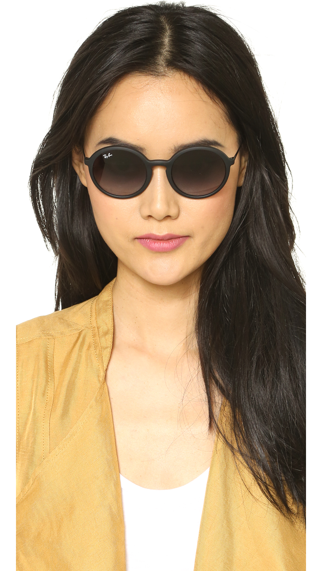 Ray Ban Black Round Sunglasses