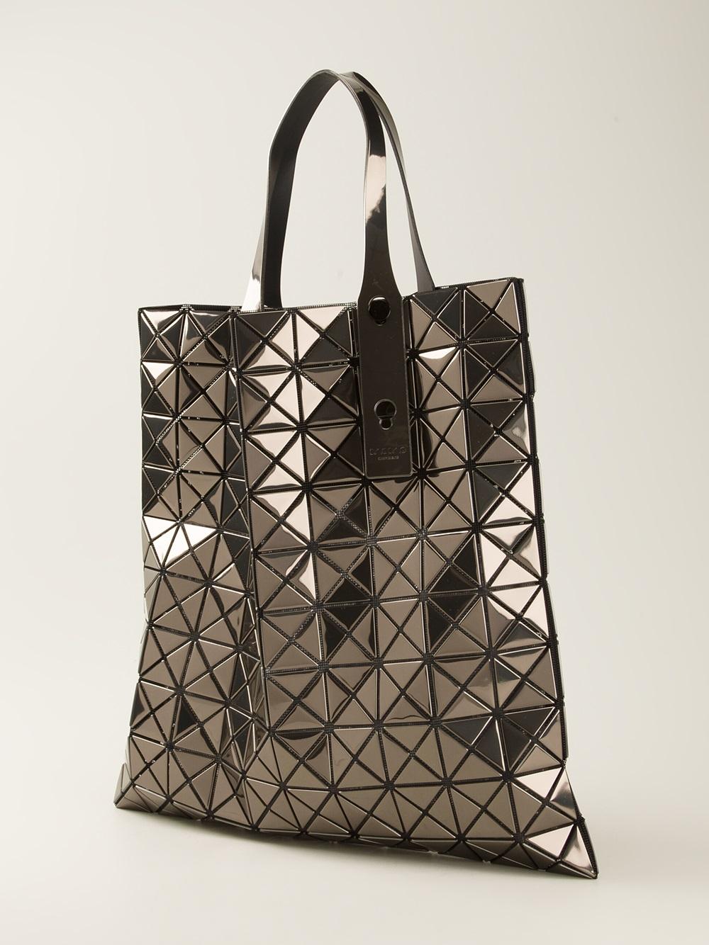 021fe44473 Lyst - Bao Bao Issey Miyake Geometric Panel Tote Bag in Metallic