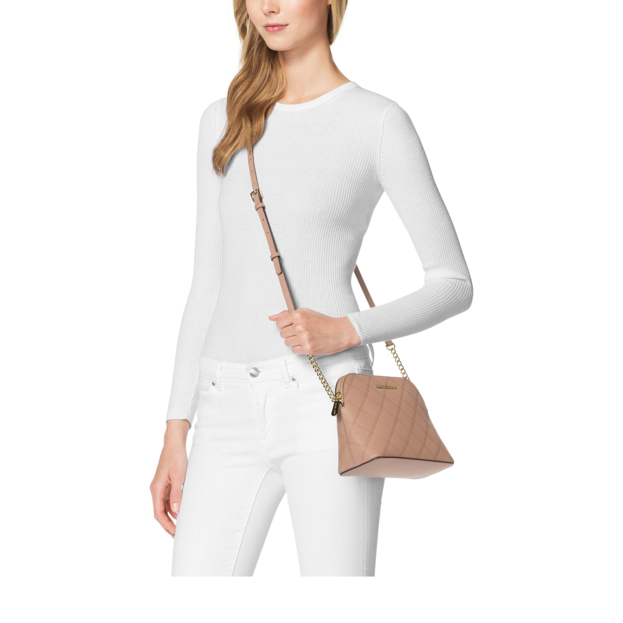Lyst Michael Kors Cindy Large Saffiano Leather Crossbody