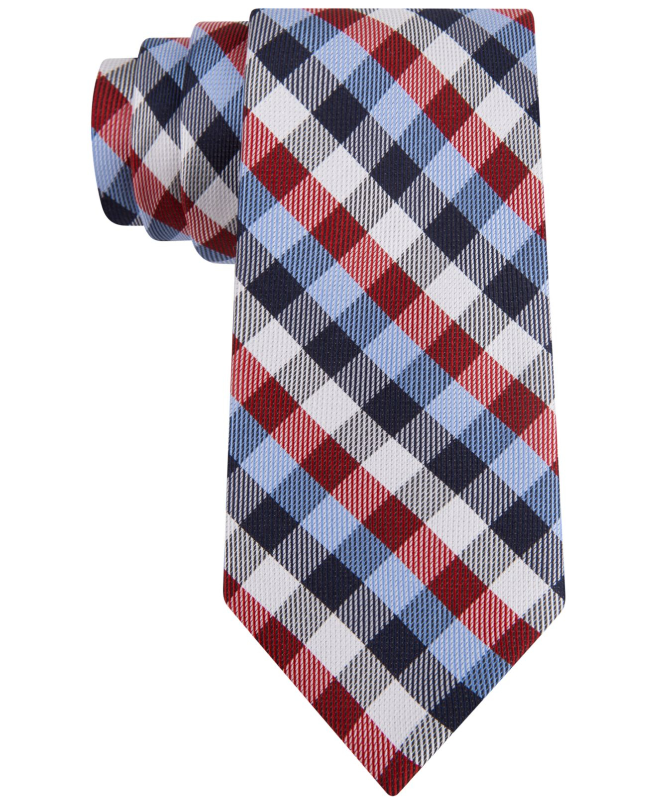 d1494fa49f50 Tommy Hilfiger Multi-gingham Slim Tie in Blue for Men - Lyst