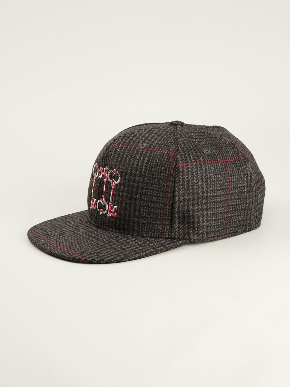 Lyst Dolce Amp Gabbana Tweed Baseball Cap In Black For Men