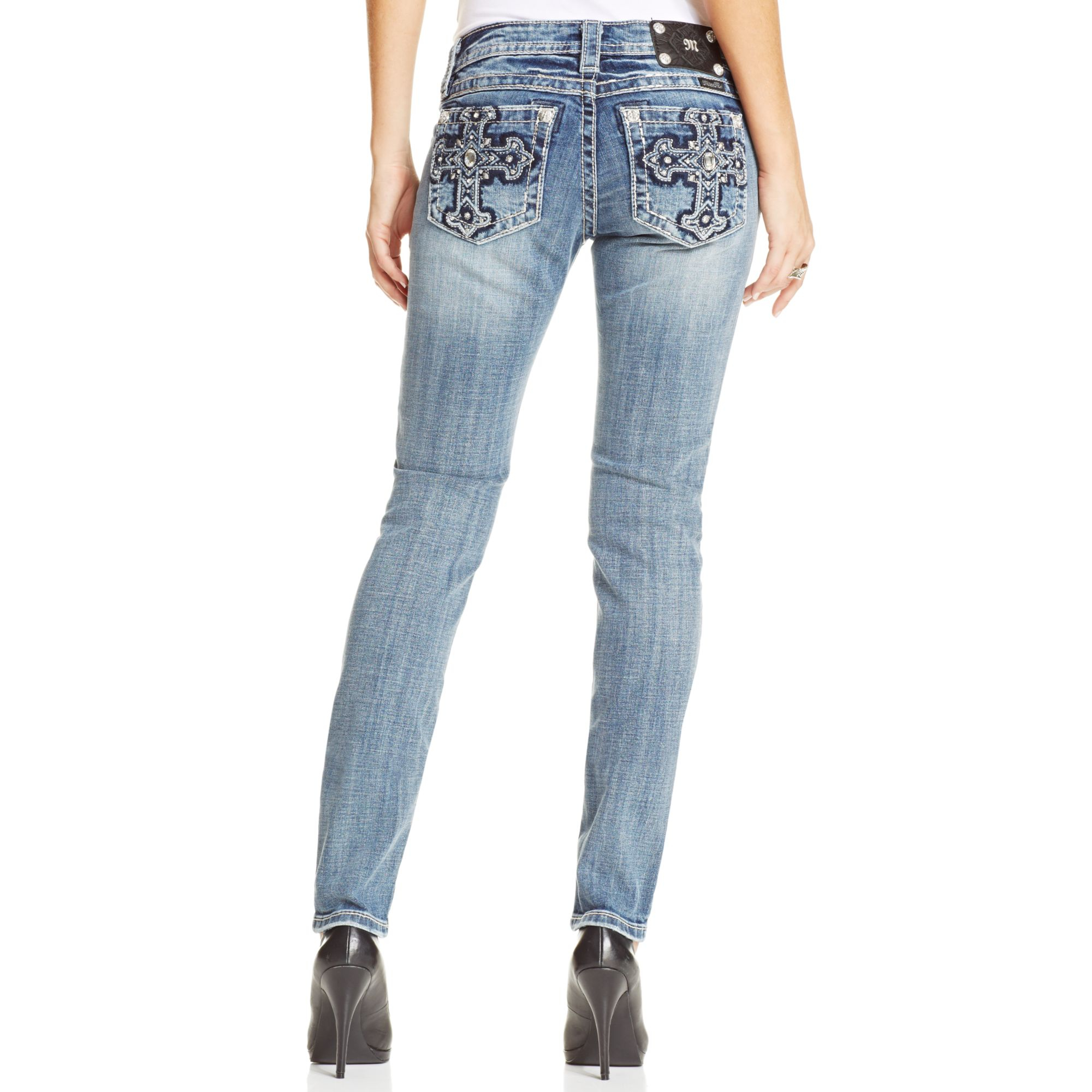 Womens Jeans With Embellished Pockets
