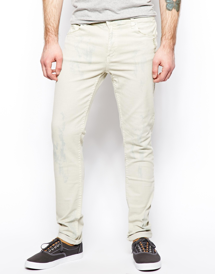 Cheap monday Jeans Tight Skinny Fit In Dirty White in White for ...