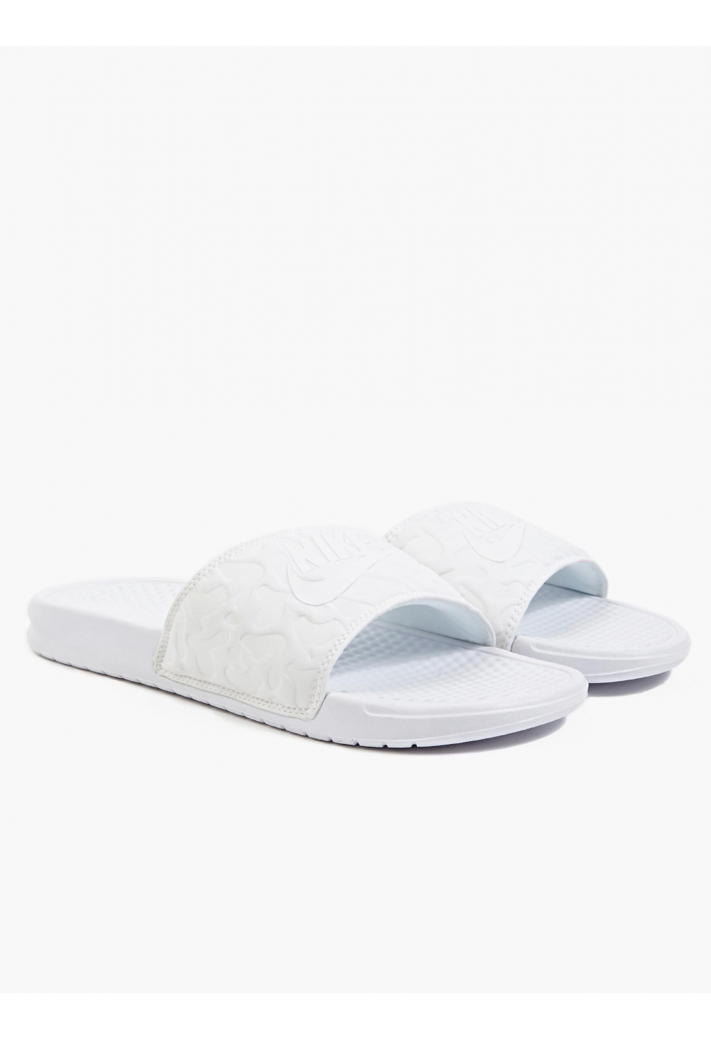 Nike Men'S White Benassi Jdi Pool Slider in White for Men | Lyst