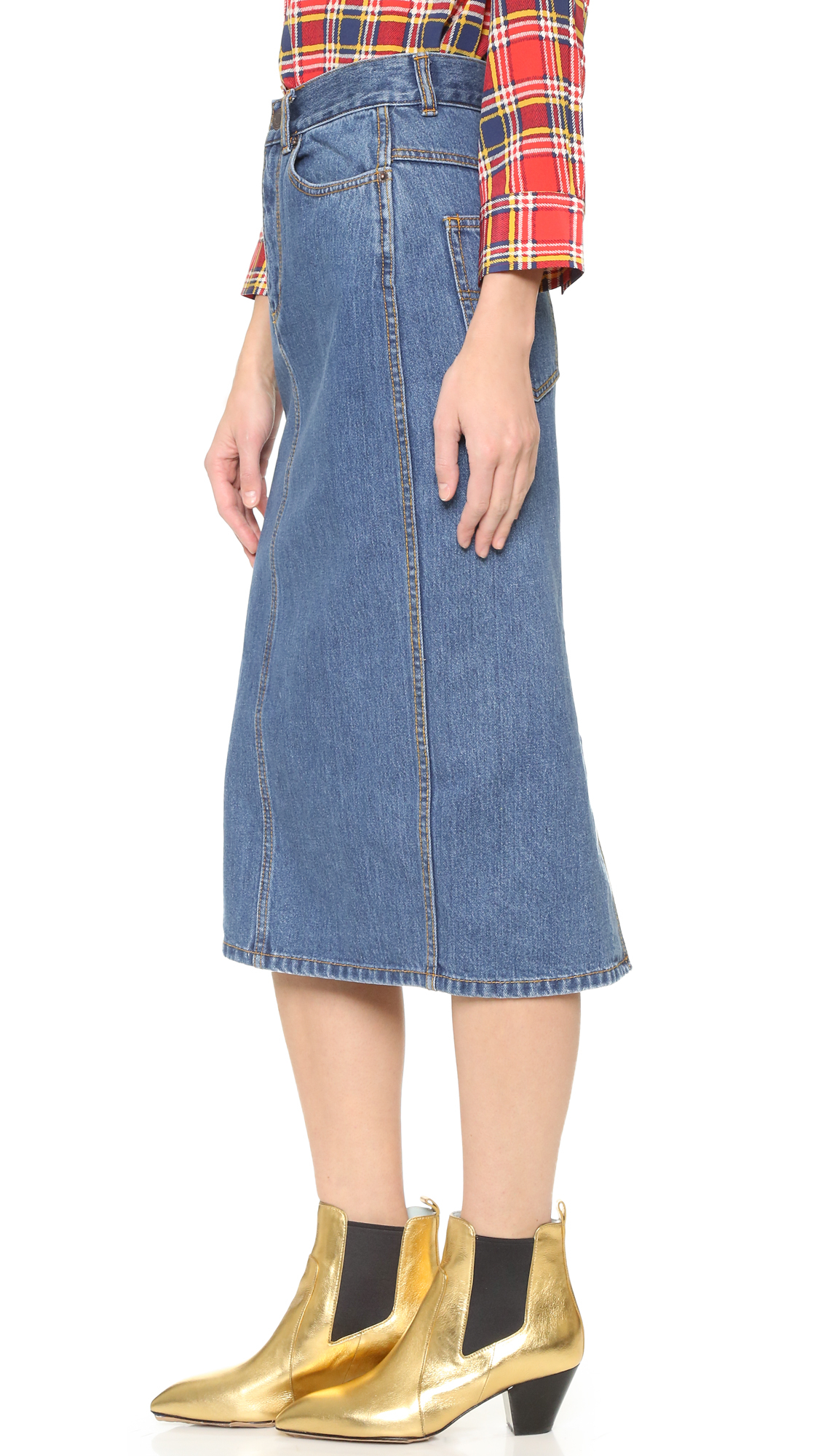 Marc jacobs Jean Skirt in Blue | Lyst