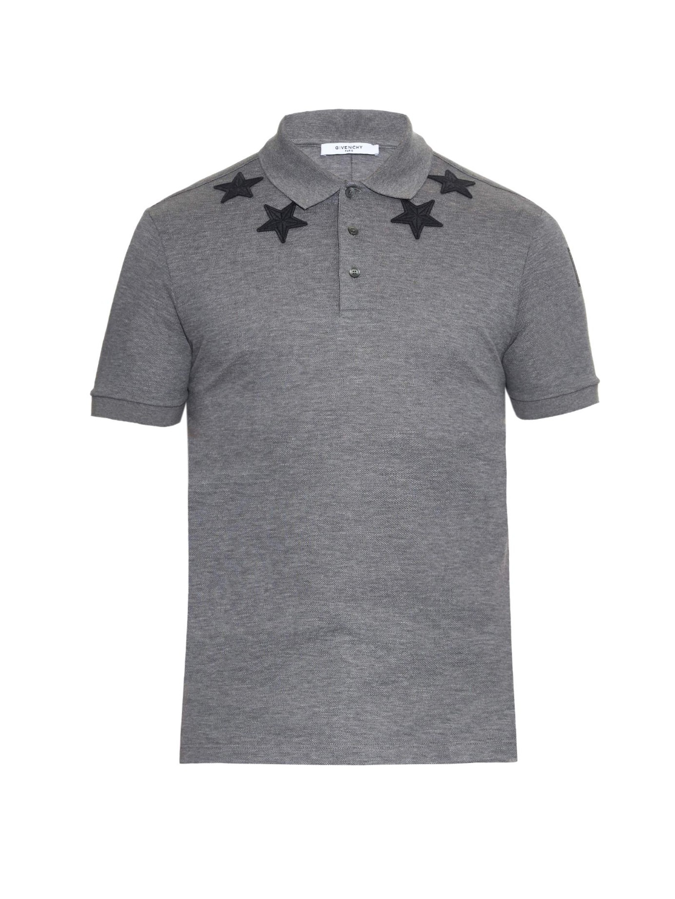 e67b3eea Givenchy Cuban-fit Star-embroidered Polo Shirt in Gray for Men - Lyst