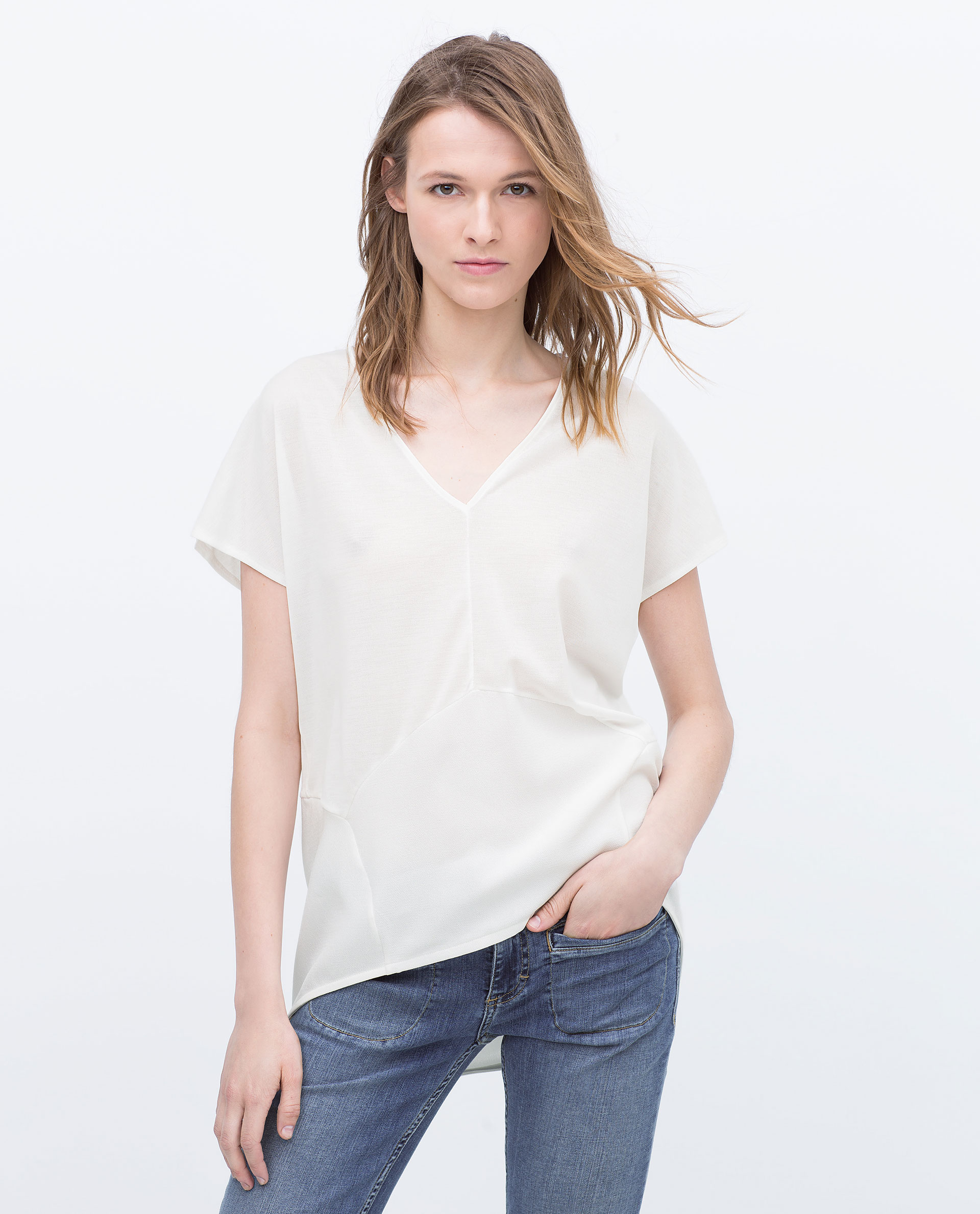 Zara Shirt Style Blouse 55