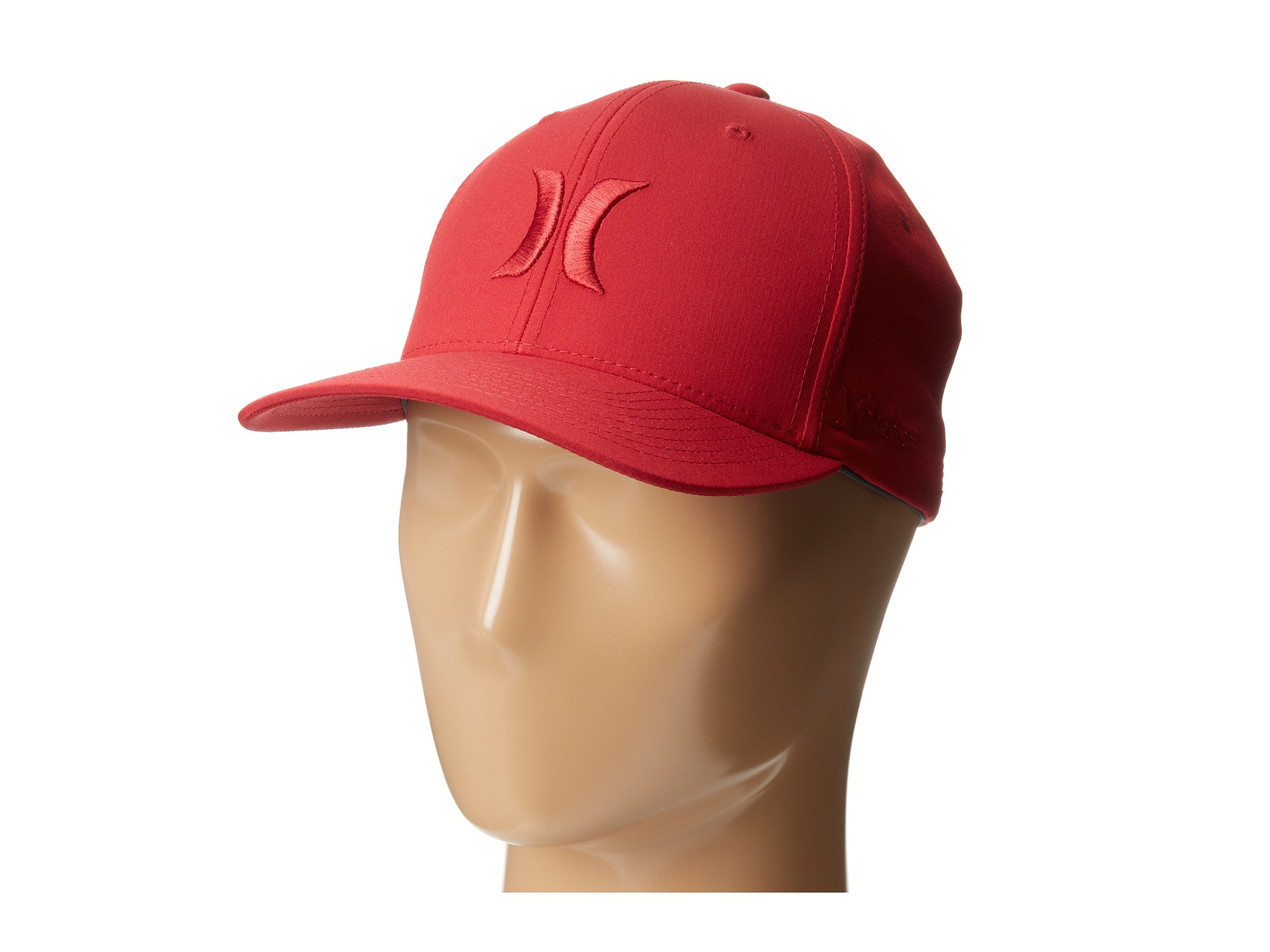 quality design 99d54 ff2c5 where to buy lyst hurley phantom one only flexfit permacurve hat in red for  men 53ba9