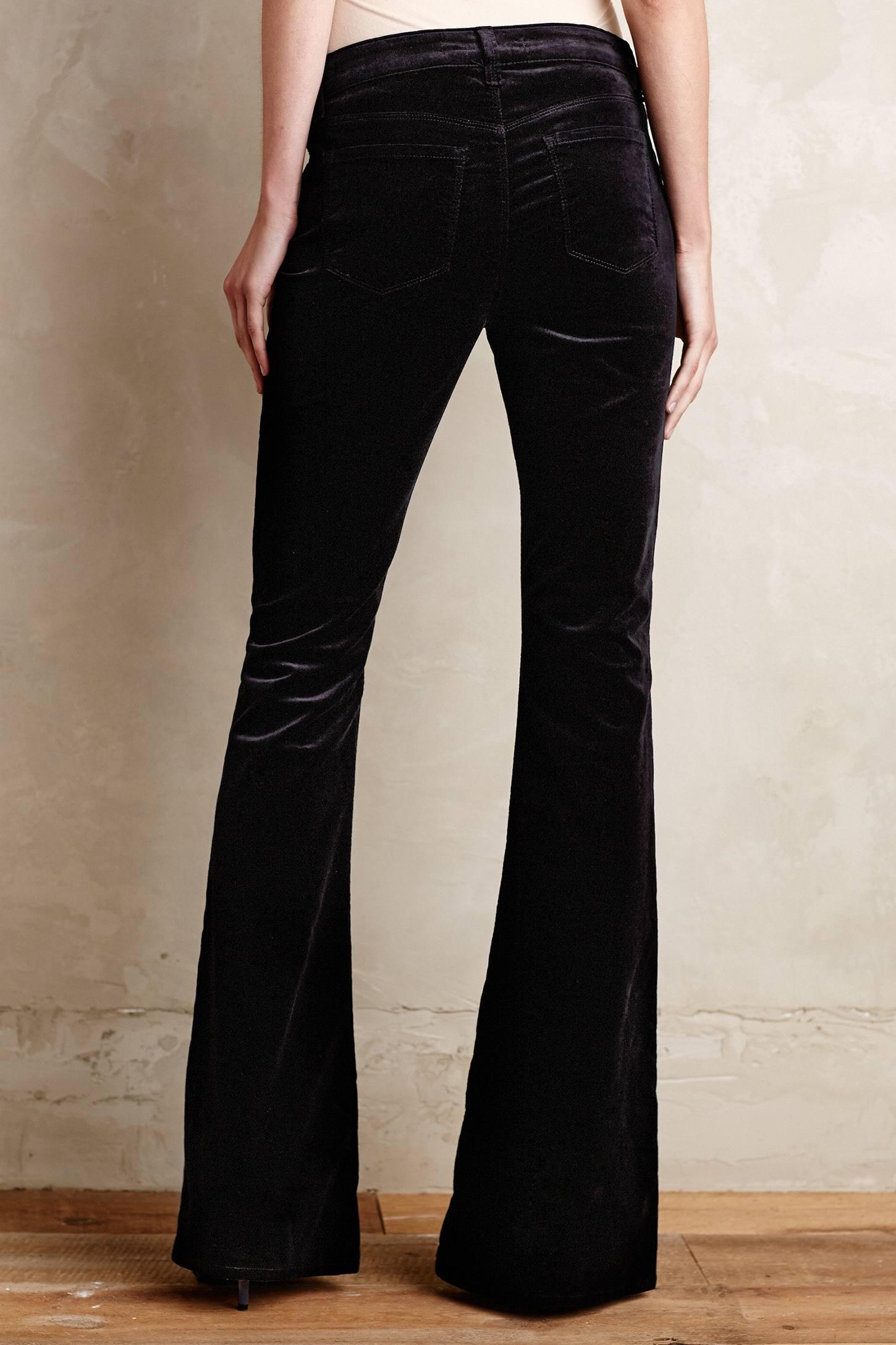 J brand Martini Velvet Flare Jeans in Black | Lyst