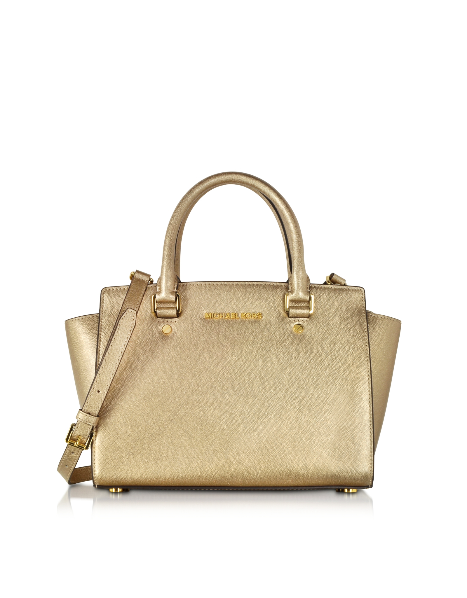 michael kors handtasche gold michael kors tasche handtasche bag clutch fulton sm shldr file. Black Bedroom Furniture Sets. Home Design Ideas