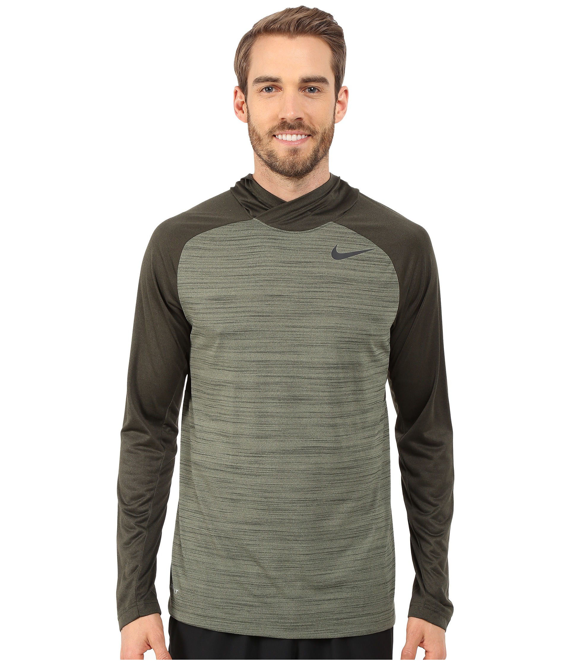 Lyst - Nike Dri-fit™ Touch Long Sleeve Hoodie in Green for Men bd0e727ef
