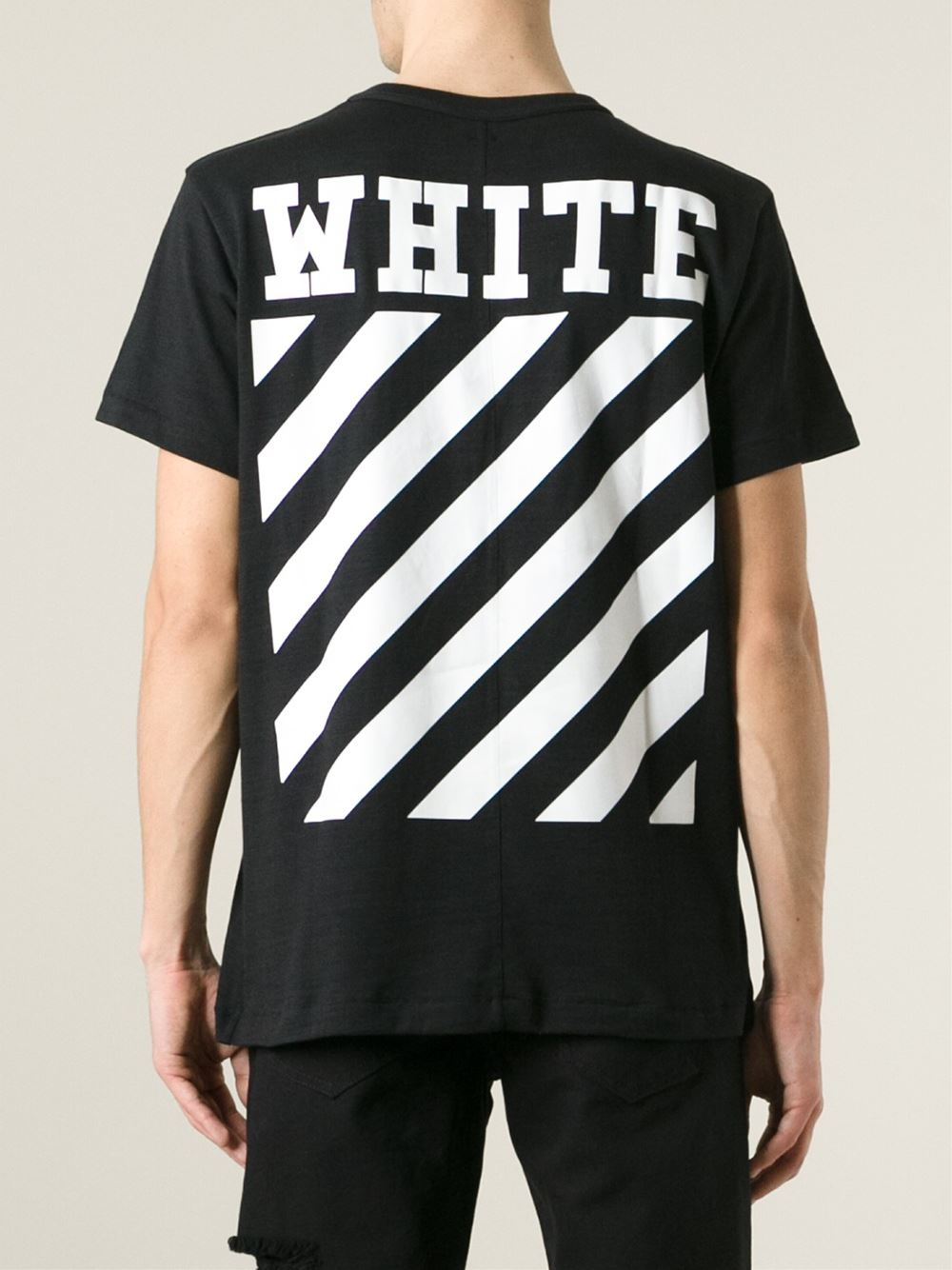 Off-white c/o virgil abloh Caravaggio-Print T-Shirt in Black for ...