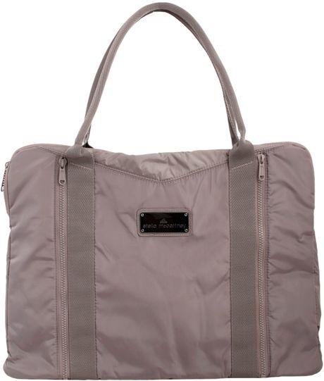 adidas by stella mccartney yoga bag in gray grigio lyst. Black Bedroom Furniture Sets. Home Design Ideas