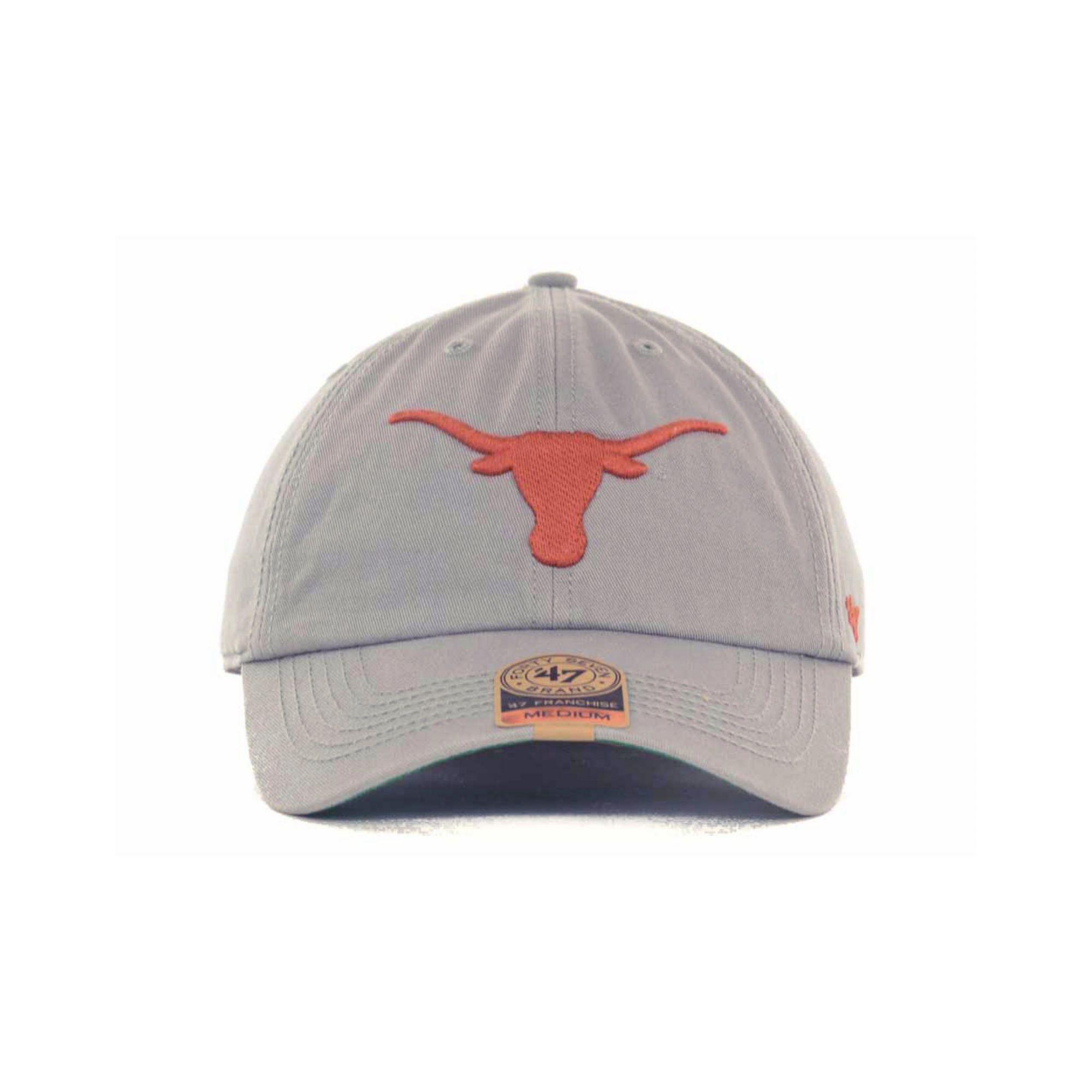 9edd263762fe0 47 Brand Texas Longhorns Ncaa 47 Grey Franchise Cap in Gray for Men ...