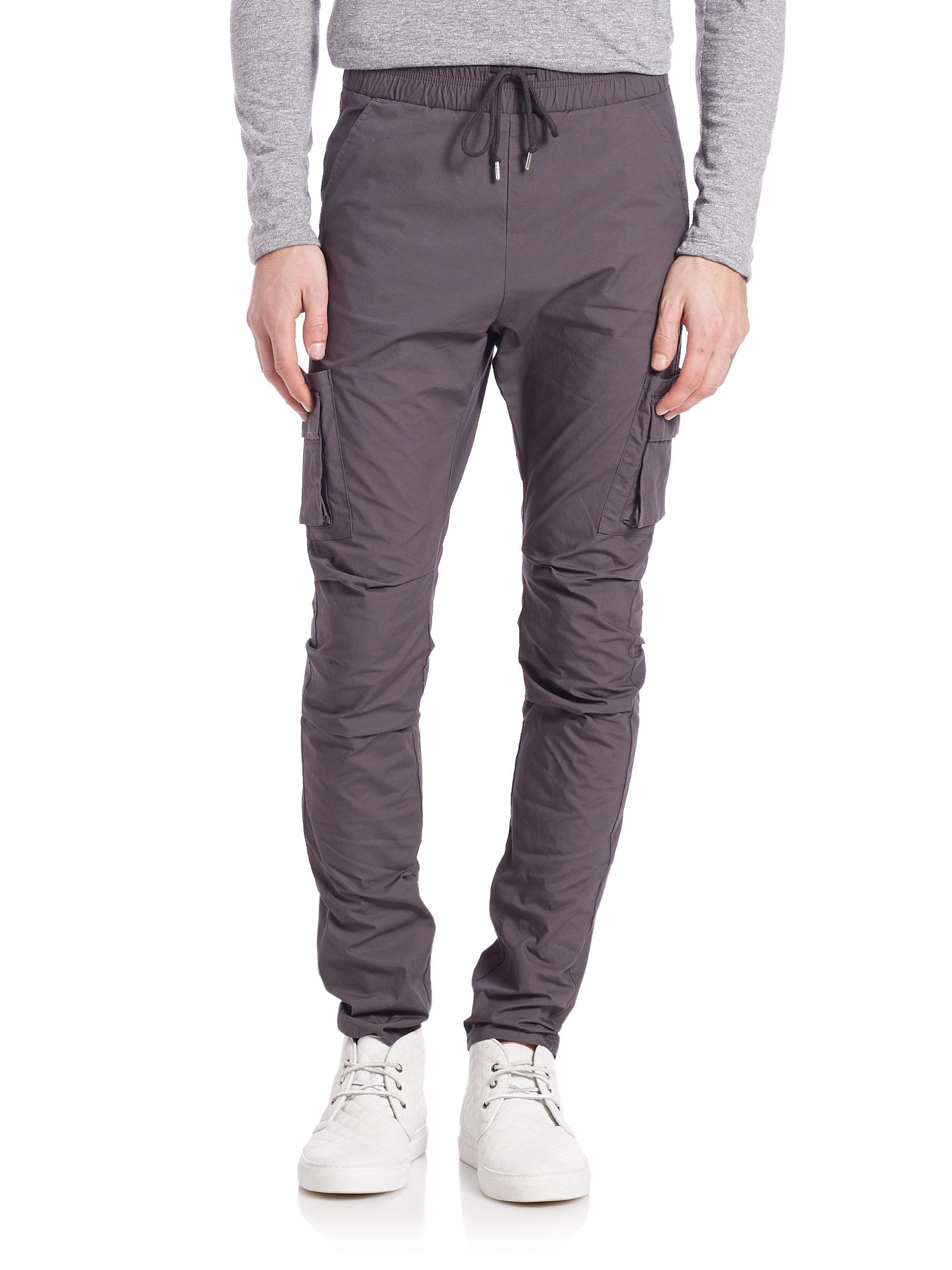 John elliott Slim Tapered Cargo Pants in Gray for Men | Lyst